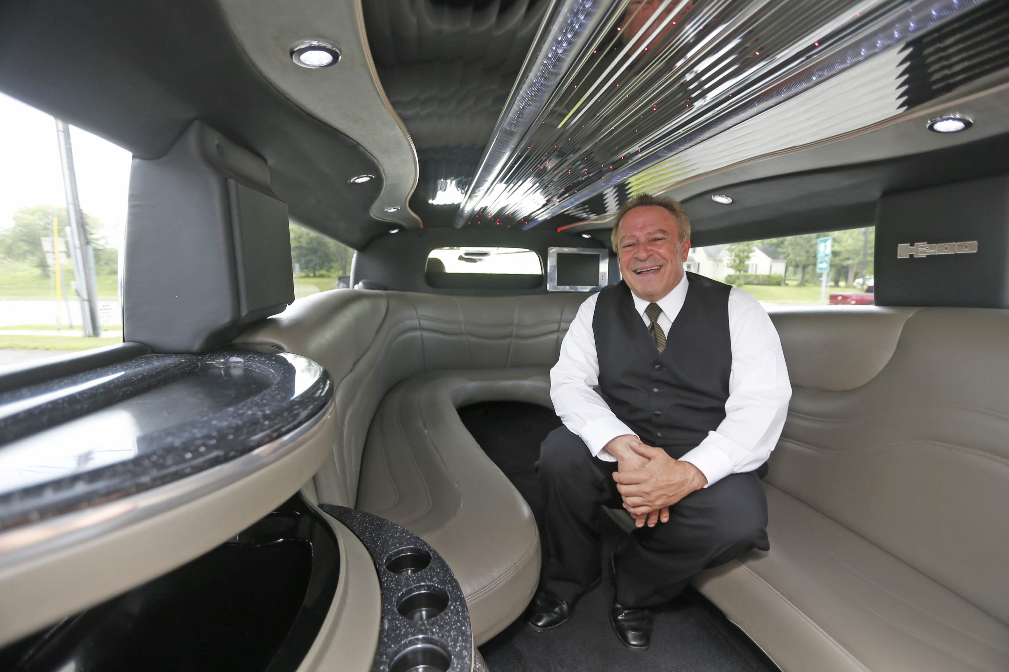 Limousine driver David Zaccarine's favorite gigs are wine tours and proms. A Lackawanna native, Zaccarine worked in Southern California before returning to Western New York. He's known for keeping a cooler at his side, stocked with supplies that his customers may need.
