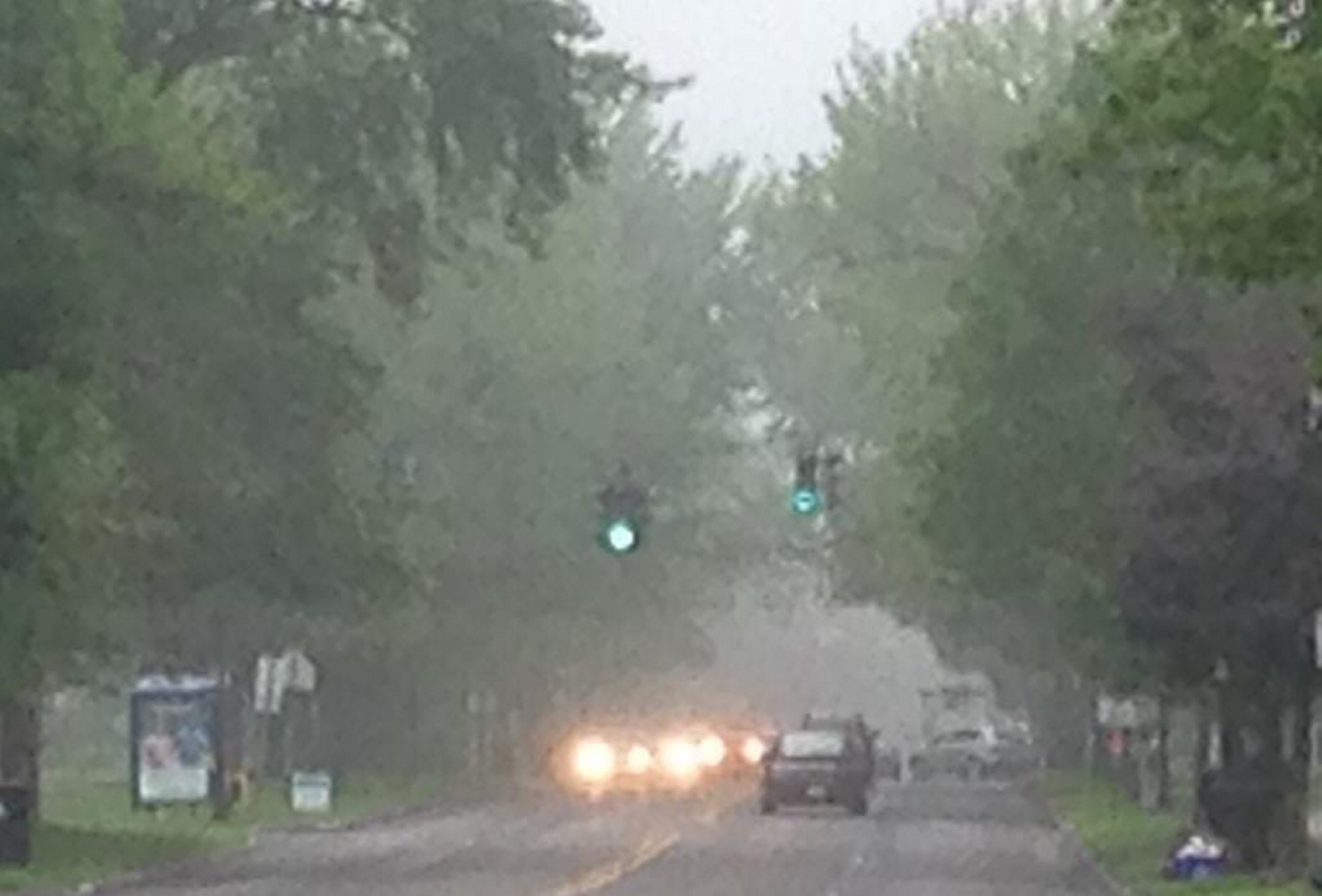 It was a foggy commute on Colvin Boulevard in Kenmore on Tuesday morning.   Photo by John Hickey/Buffalo News