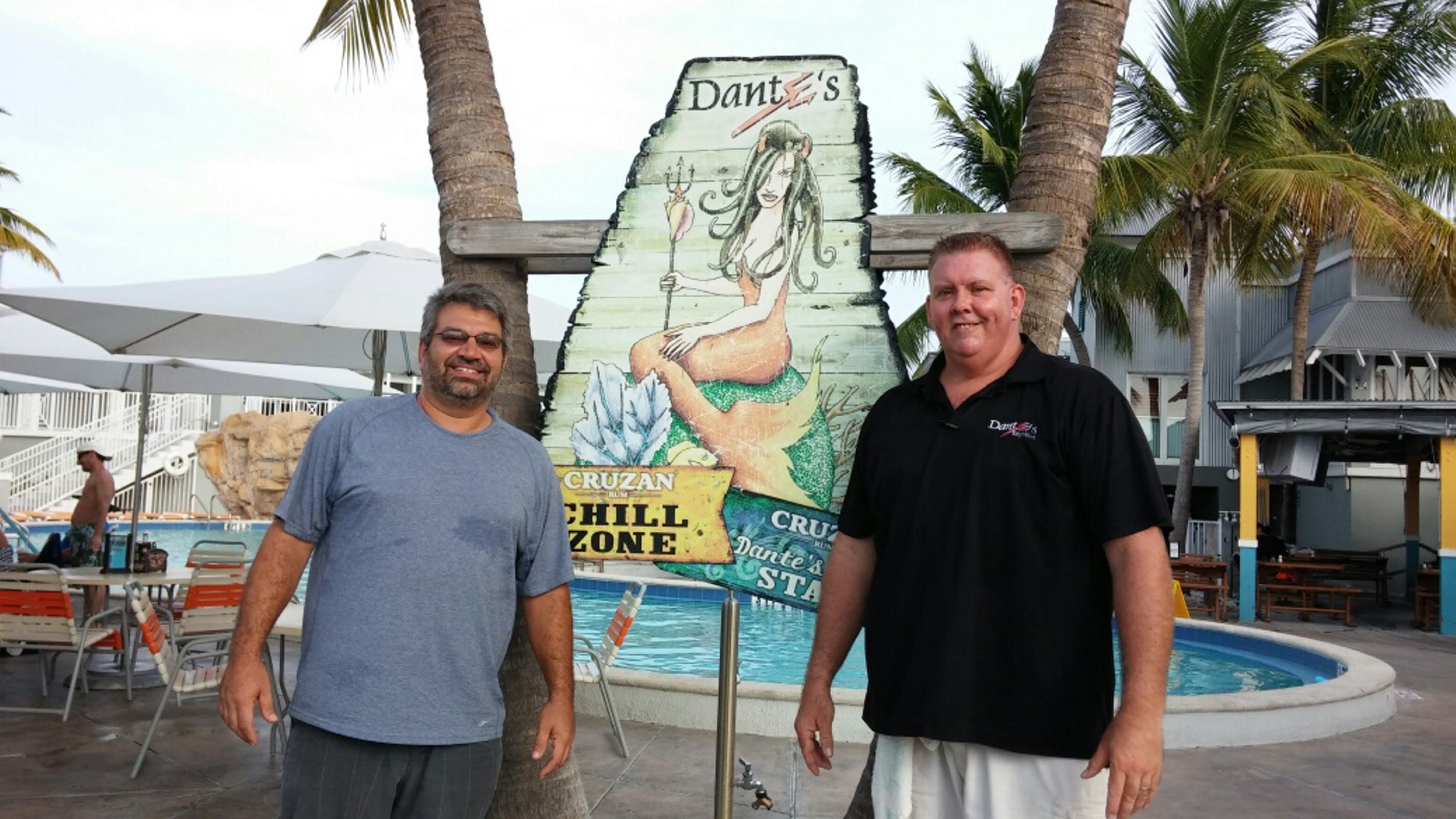 "Rich Rogenmoser, left, with Randy ""T-Bone"" Earley in Key West, Fla. (Susan Chiappone/Special to The News)"