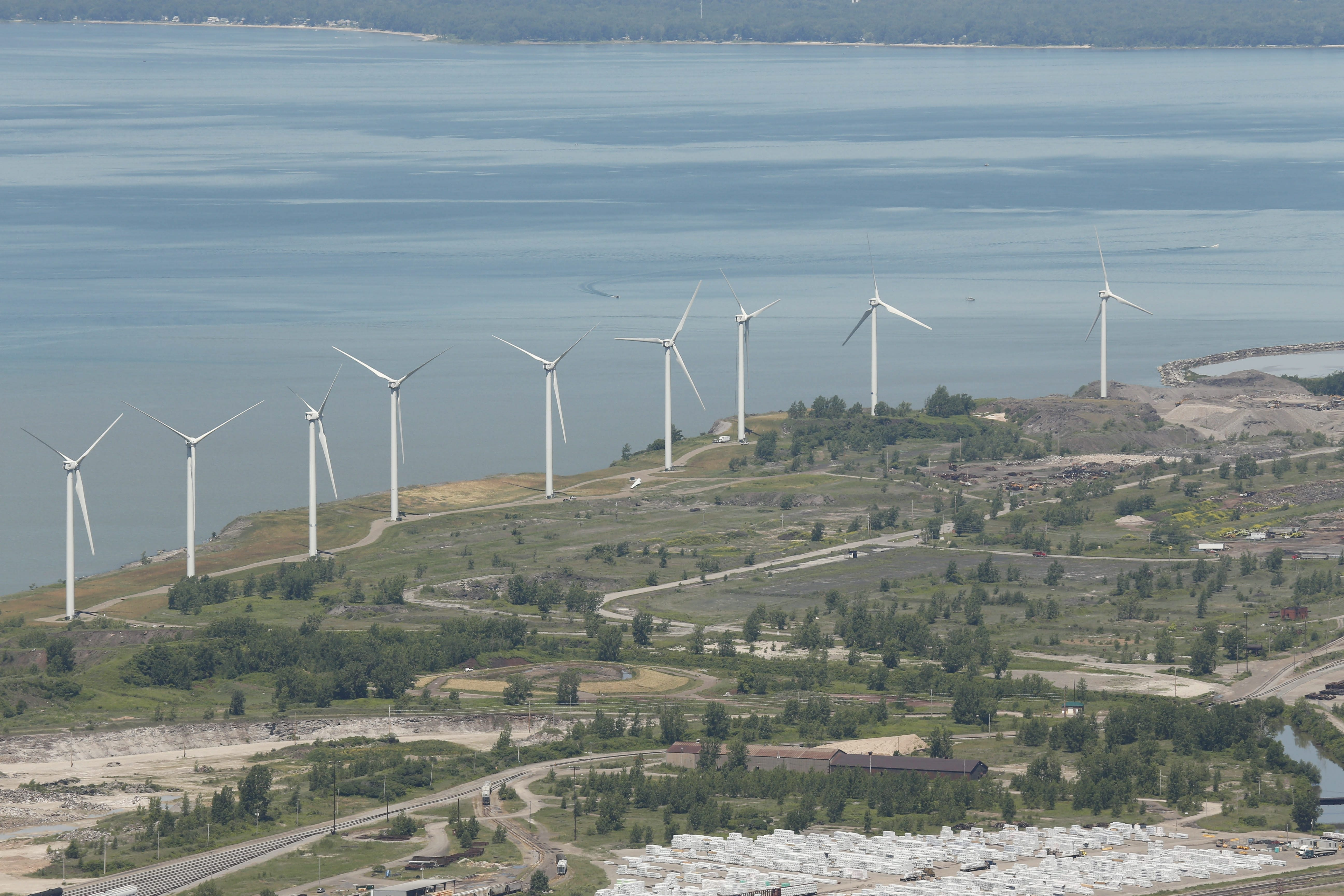 Extending the state's renewable energy program could lead to more projects like Steel Winds in Lackawanna. (Derek Gee/Buffalo News)