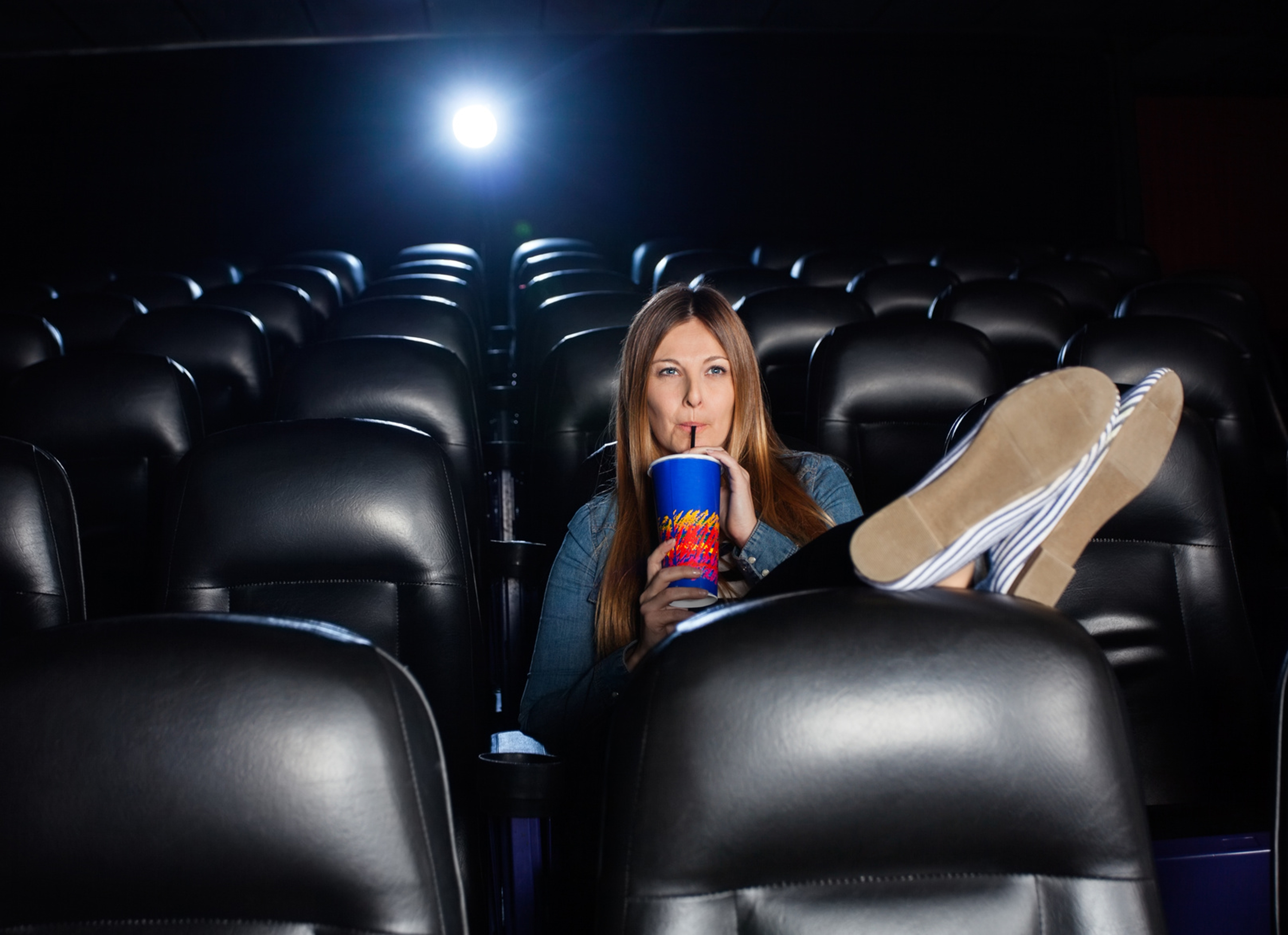 Most said they would see a movie in a theater with friends, but less than 30 percent said they would see a movie in a theater alone.