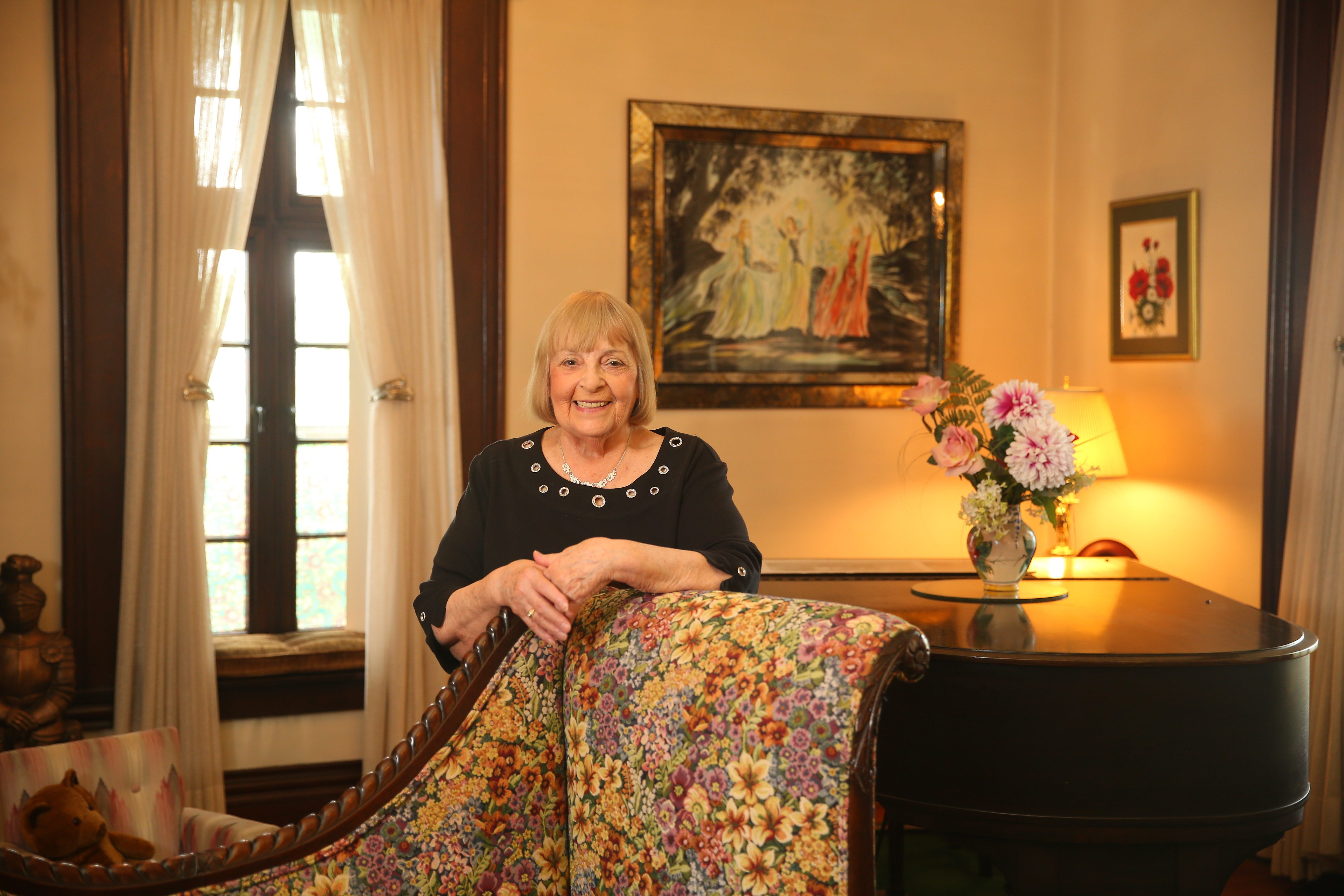 Bed and breakfast owner Virginia Celenza enjoys meeting the visitors who come to stay at the historic Holley-Rankine house on Riverside Drive in Niagara Falls.