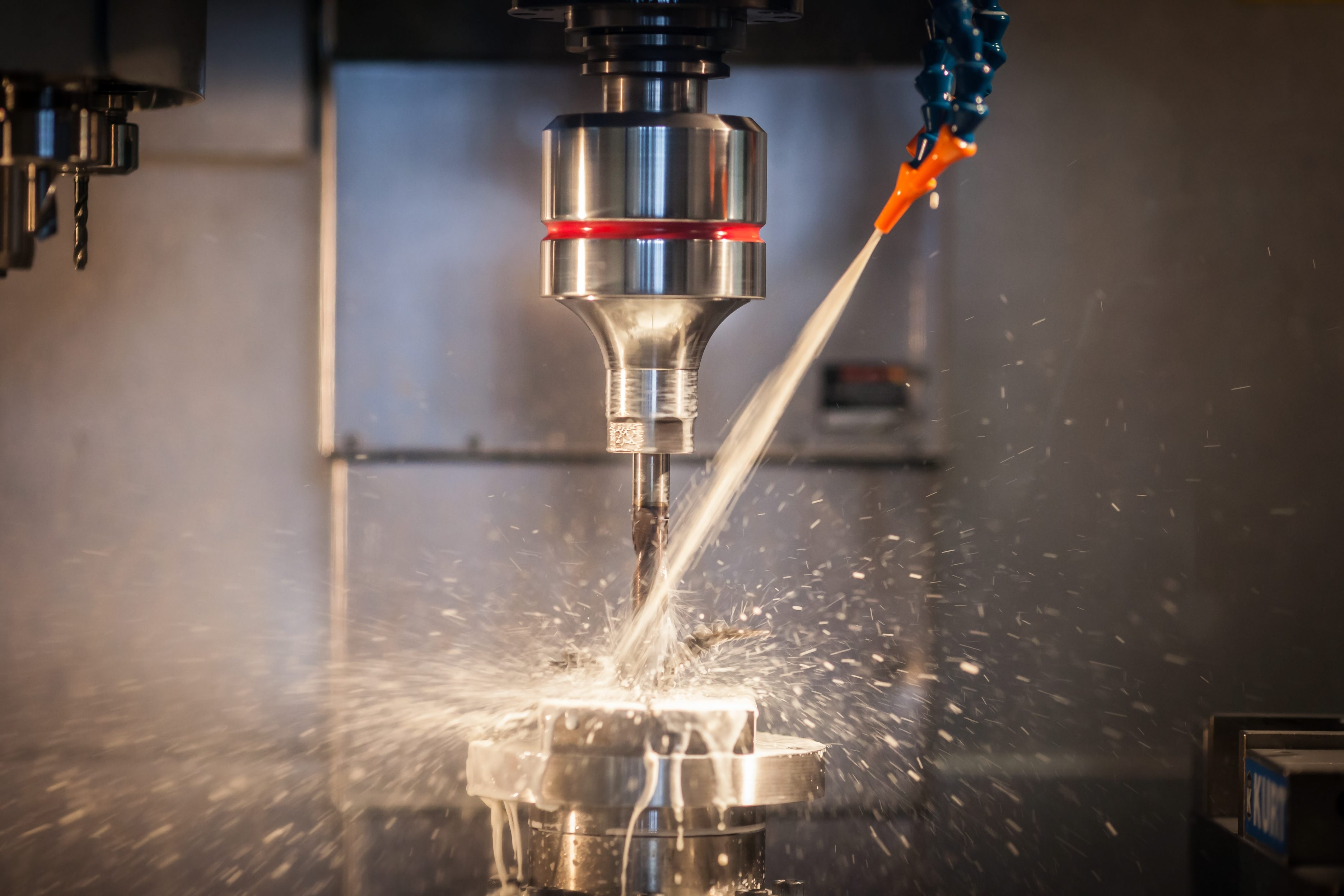 Advanced manufacturing includes use of high-tech tools like this ultrasonic drill, and companies are looking for skilled workers.