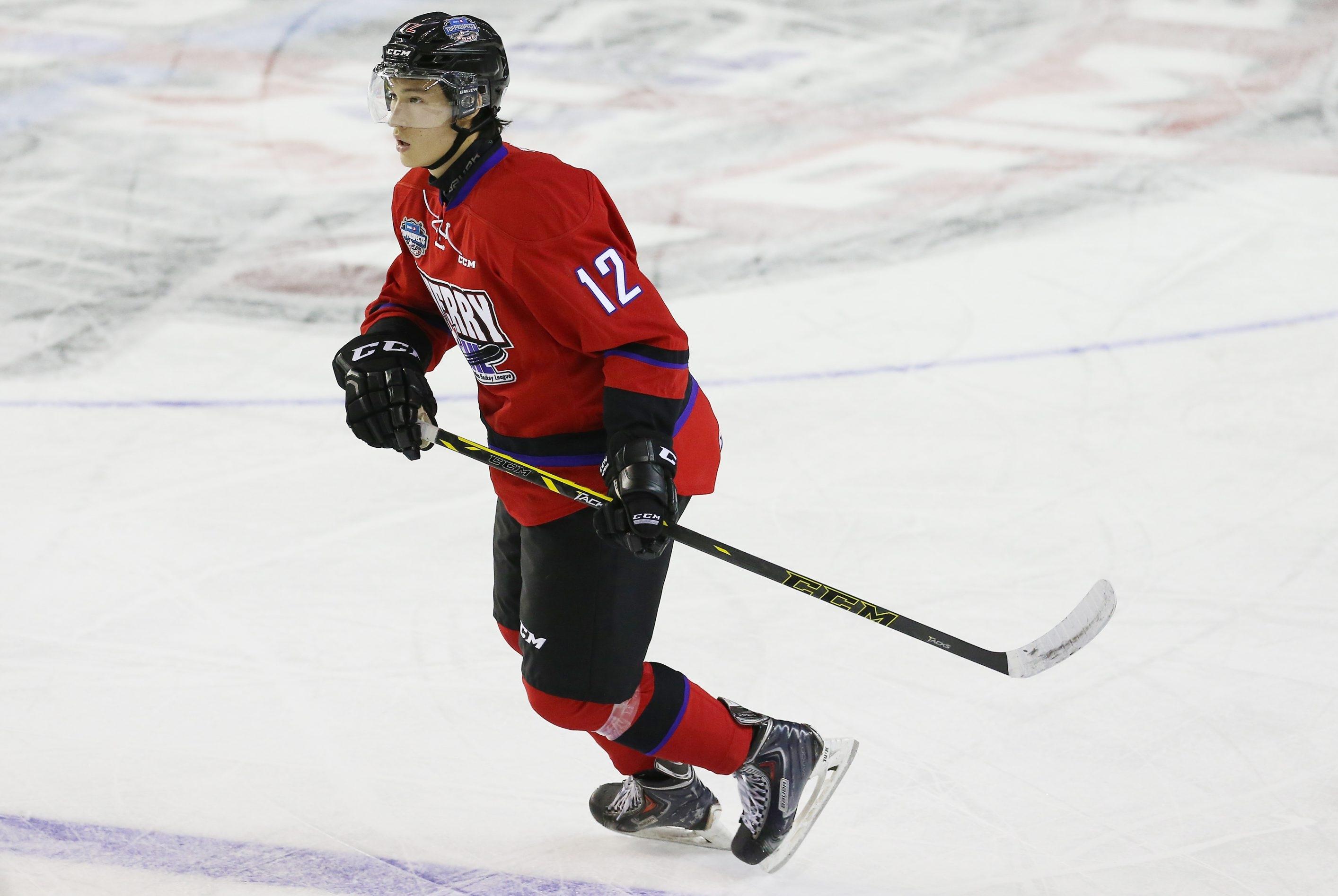 Dennis Yan has an NHL-caliber wrist shot, according to his coach from Shawinigan of the QMJHL.