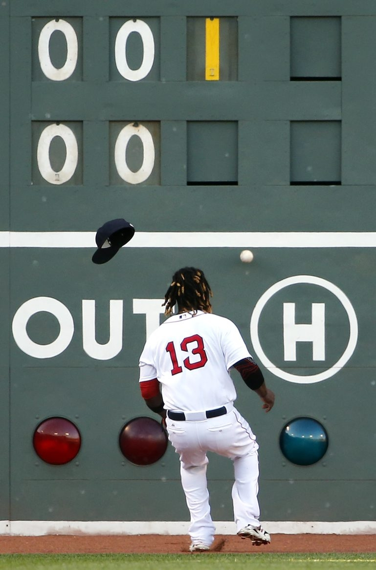 Hanley Ramirez has had his troubles learning how to play the outfield since joining the Red Sox this season.