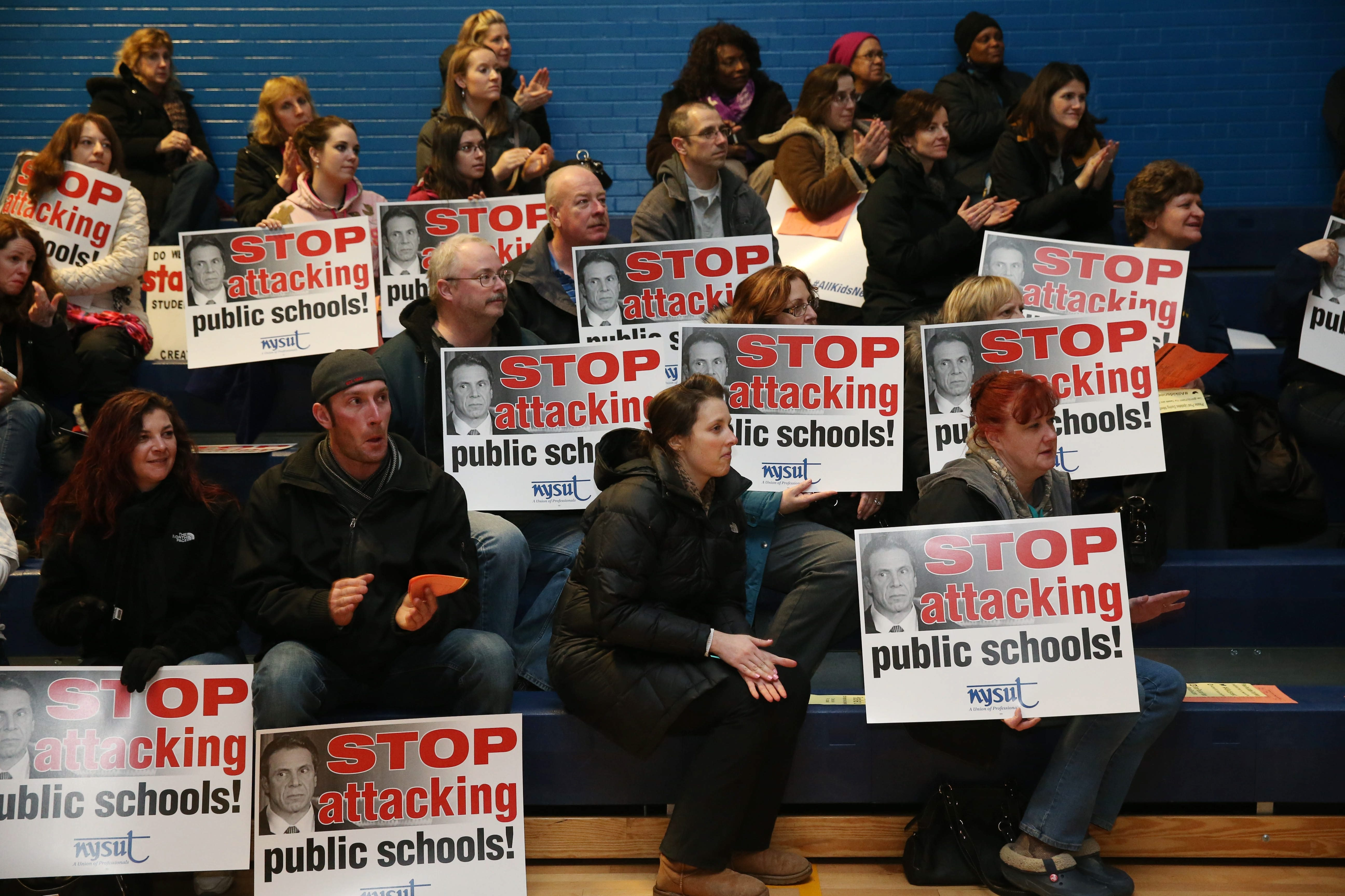 Despite claims made at raucus protests, New York spends a tremendous amount of money on education, and for middling results. (Sharon Cantillon/Buffalo News file photo)
