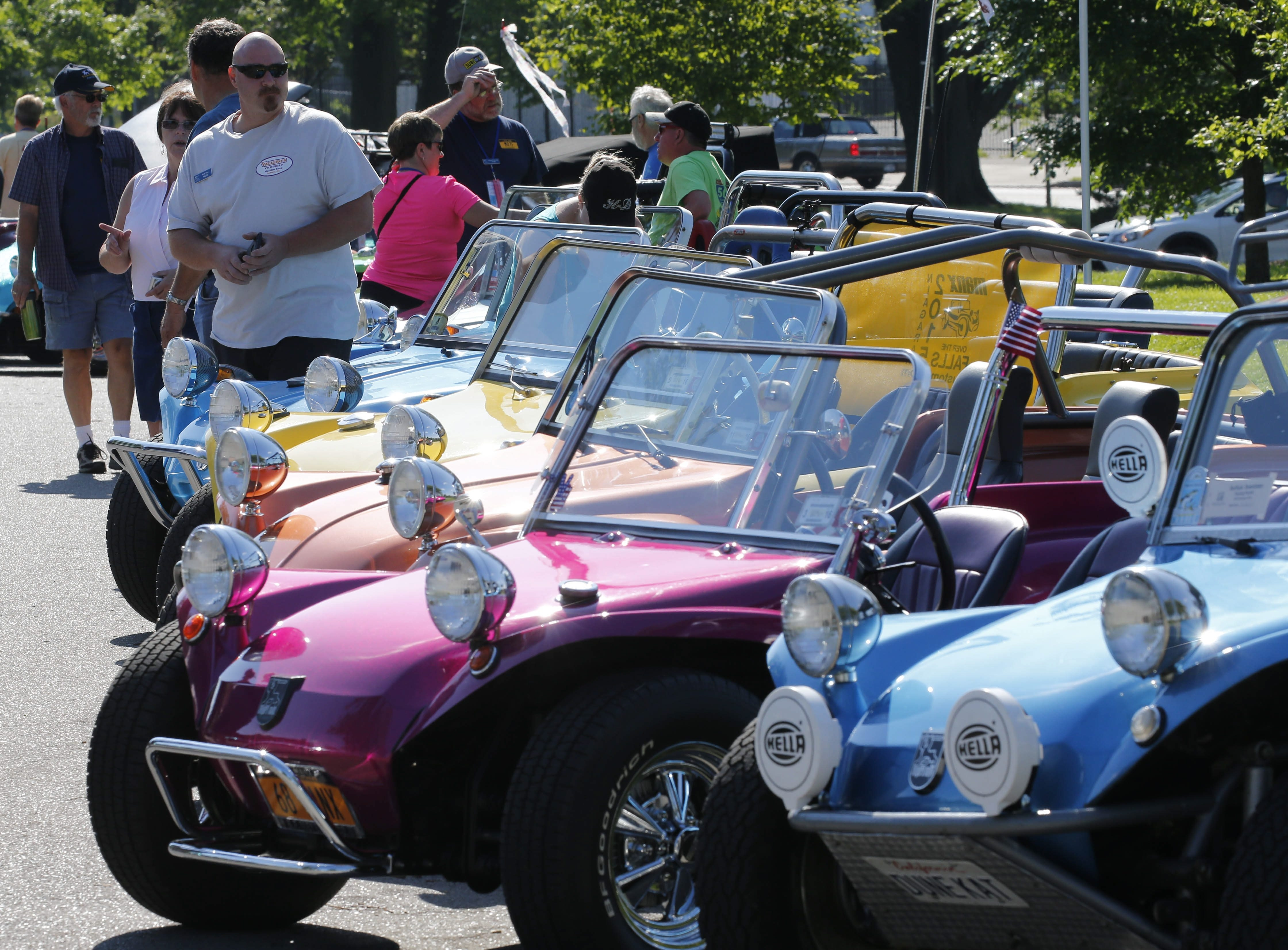 Dune buggies and drivers from around the country assemble at Front Park for the first Manx Over The Falls ride, Friday, June 26, 2015.  (Derek Gee/Buffalo News)