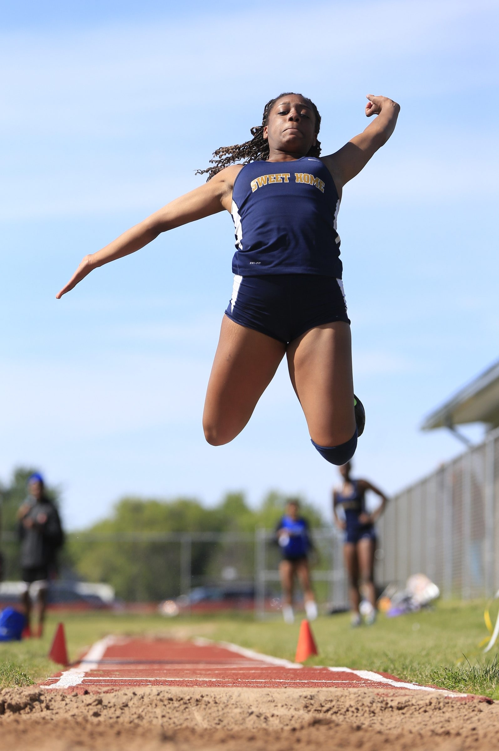 Sadira Brown of Sweet Home will be taking part in the triple jump event at the state championships.