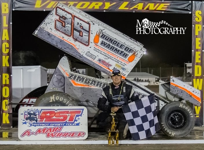Patriot Sprint Tour driver Jared Zimbardi goes for another victory in the series at Ransomville Speedway Friday.