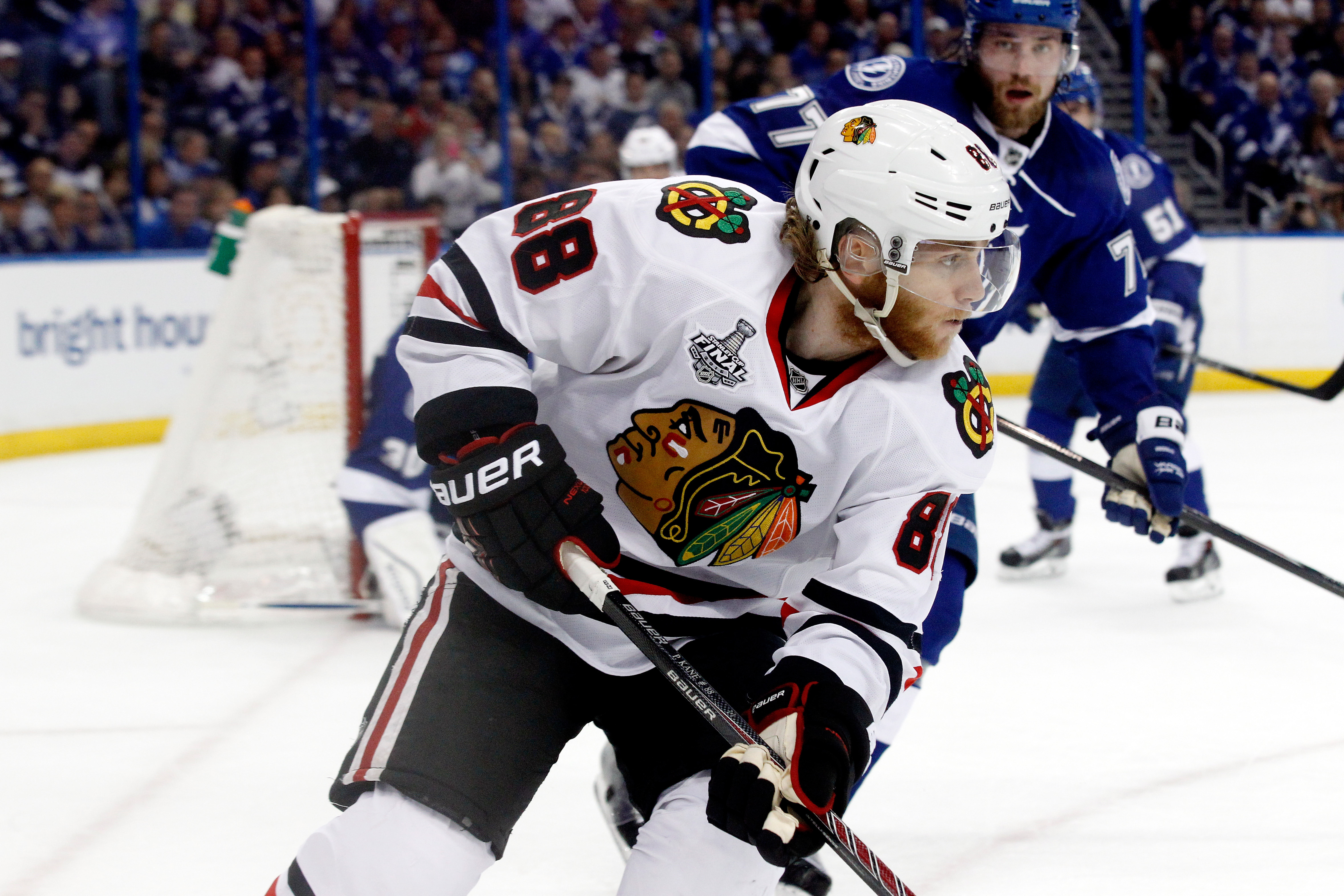 Patrick Kane said Game One was a feeling-out process.