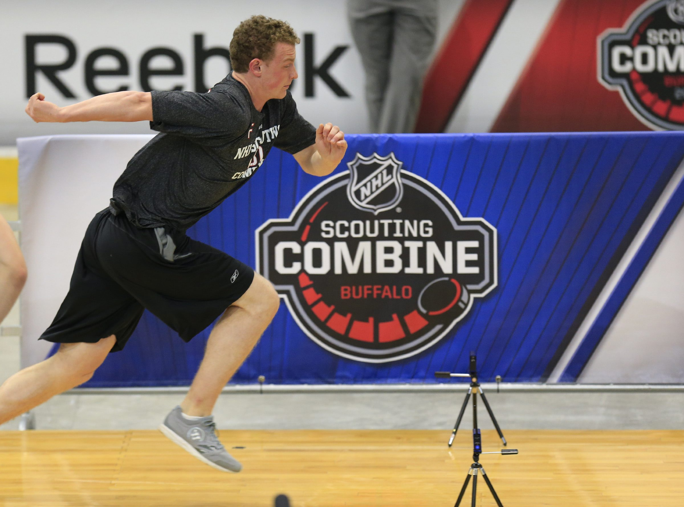 Jack Eichel put up some good scores during his tests at the NHL Scouting Combine on Saturday.