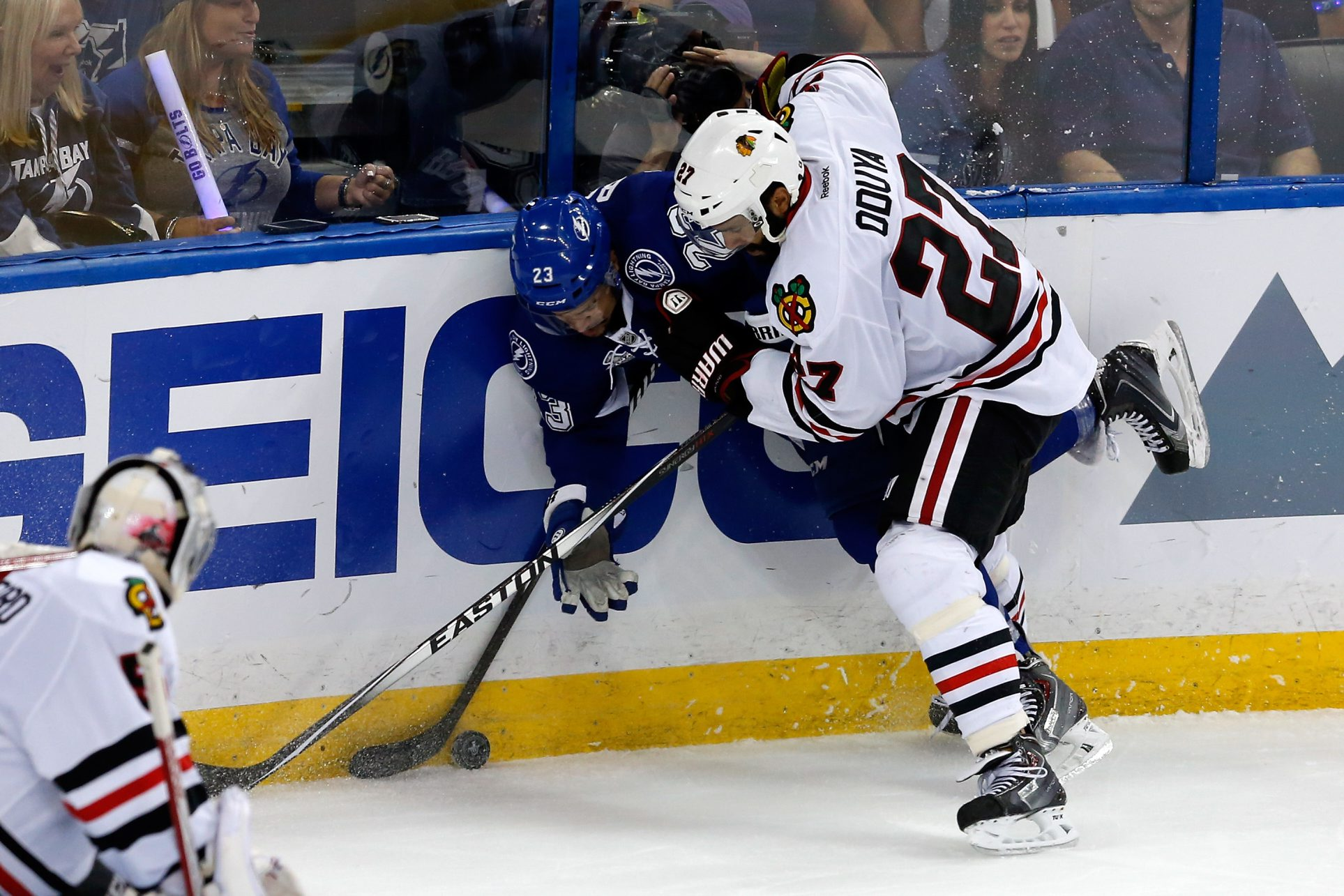 The Chicago Blackhawks' Johnny Oduya could be the answer to Buffalo's hole at left-shot D.