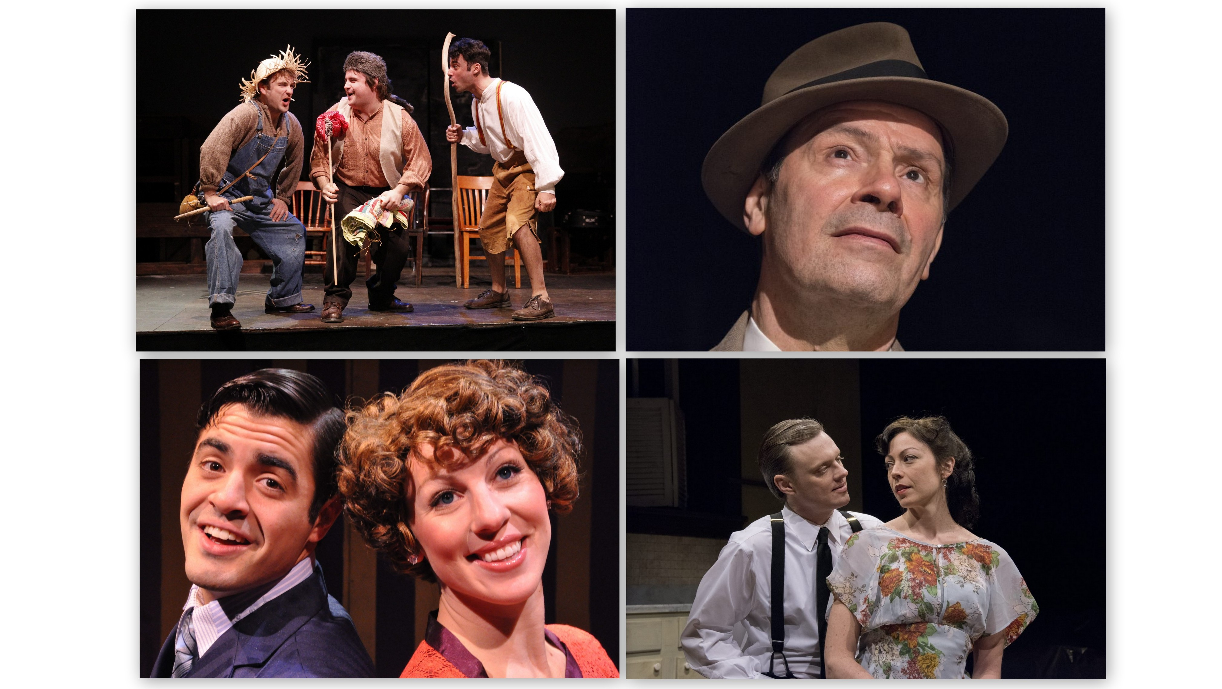 Winners at the 25th annual Artie Awards, clockwise from top left: 'The Adventures of Tom Sawyer,' John Fredo in 'Death of a Salesman,' Kate LoConti in 'After Miss Julie' and the ensemble of 'The Drowsy Chaperone.'