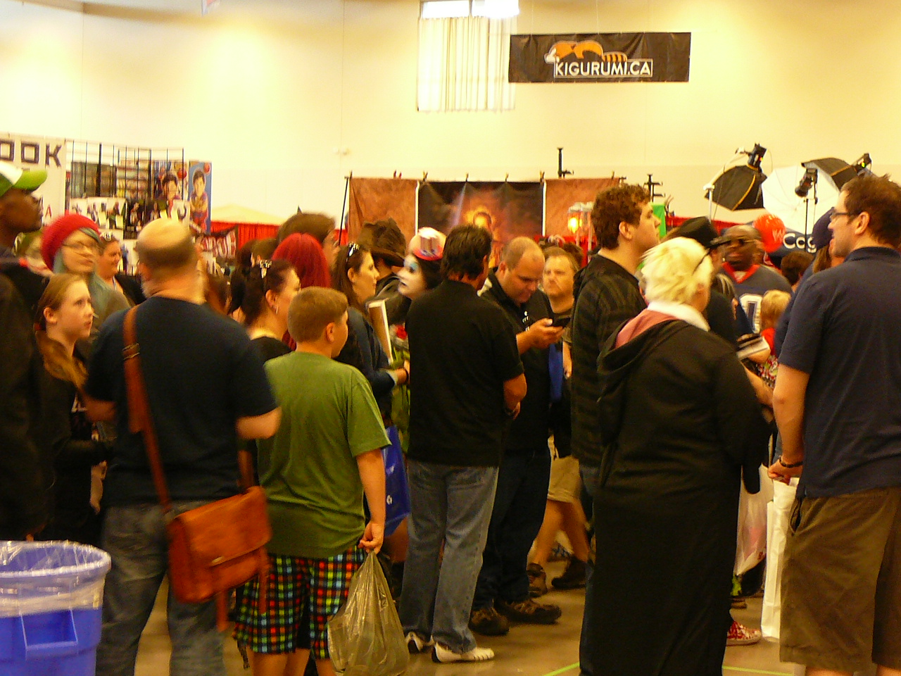 Fans wait in lines for celebrity autographs at Niagara Falls Comic Con.