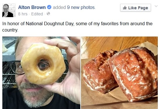 Add Alton Brown to the list of Paula's Donuts fans