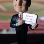 The Tim Russert bobblehead was one of the Bisons' most famous promotions. (Mark Mulville/Buffalo News)