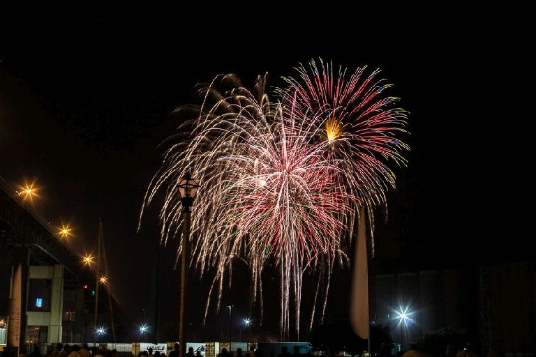 Western New Yorkers converged on Canalside last Independence Day for a gargantuan fireworks display on the waterfront. Local restaurant owner Russell J. Salvatore commissioned the works then and will do so again Saturday night. (Chuck Alaimo / Special to the News)