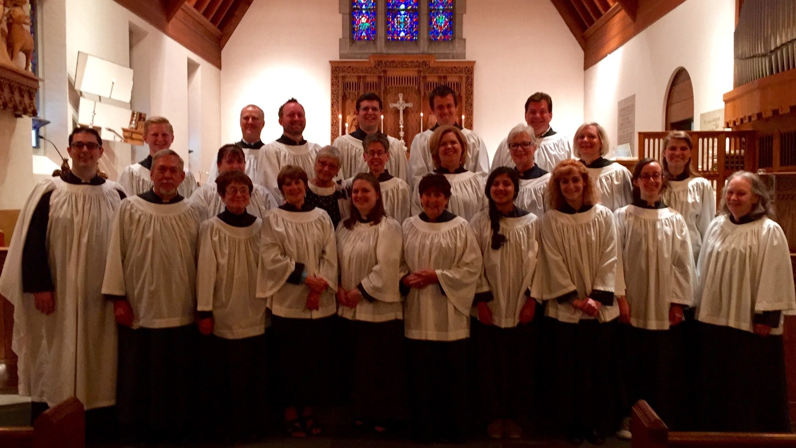 The choir of the Calvary Episcopal Church in Williamsville.