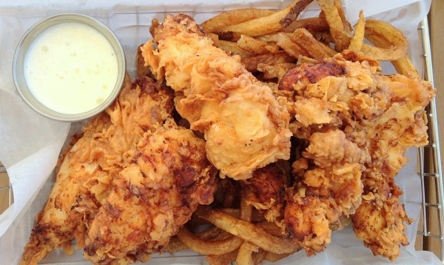 Chicken tenders at Dockside Bar & Grill, 2014 (Andrew Galarneau/Buffalo News)