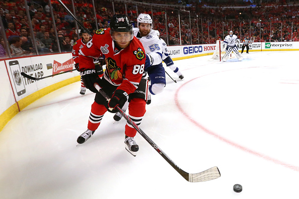 Patrick Kane is on the verge of his third Cup (Getty Images).