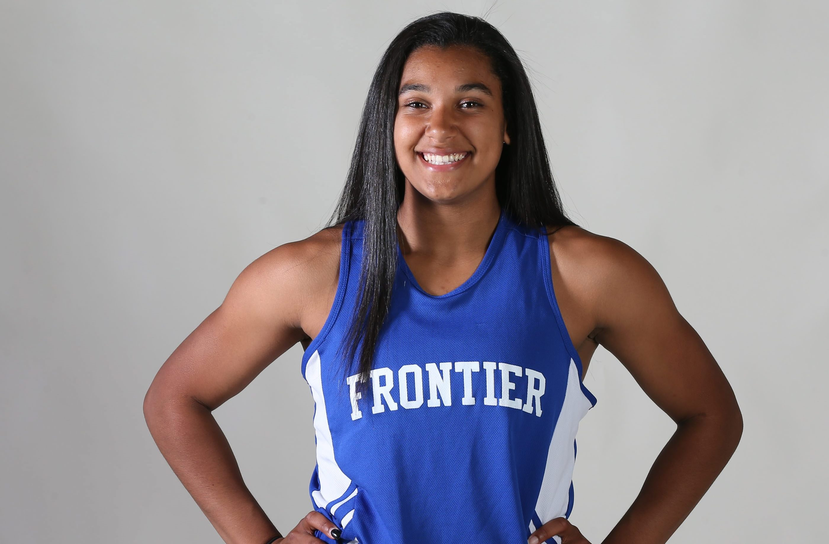 Prep Talk Player of the Year for girls outdoor track & field: McKyla Brooks of Frontier. (James P. McCoy/ Buffalo News)