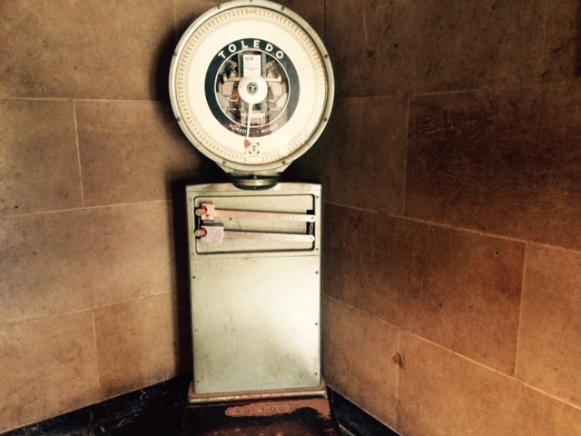 Scale  in entrance in entrance hallway of City Hall (photo by Susan Schulman)