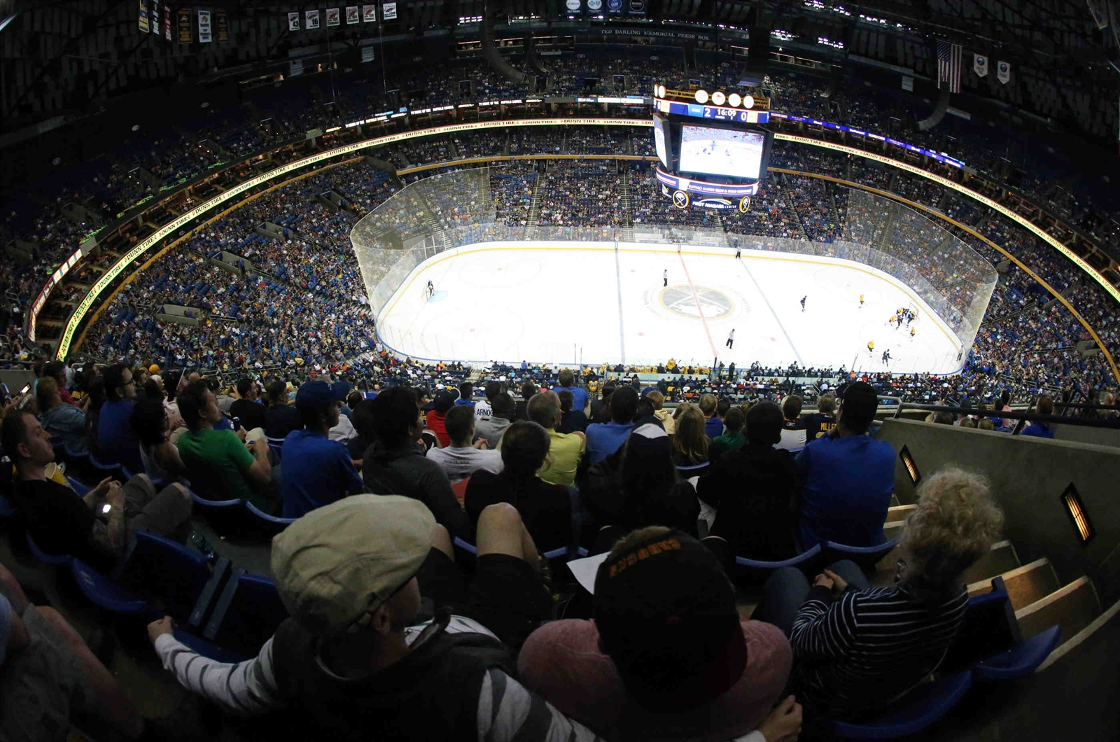 More than 17,000 fans nearly filled First Niagara Center for the Sabres' development camp scrimmage.  (James P. McCoy/Buffalo News)