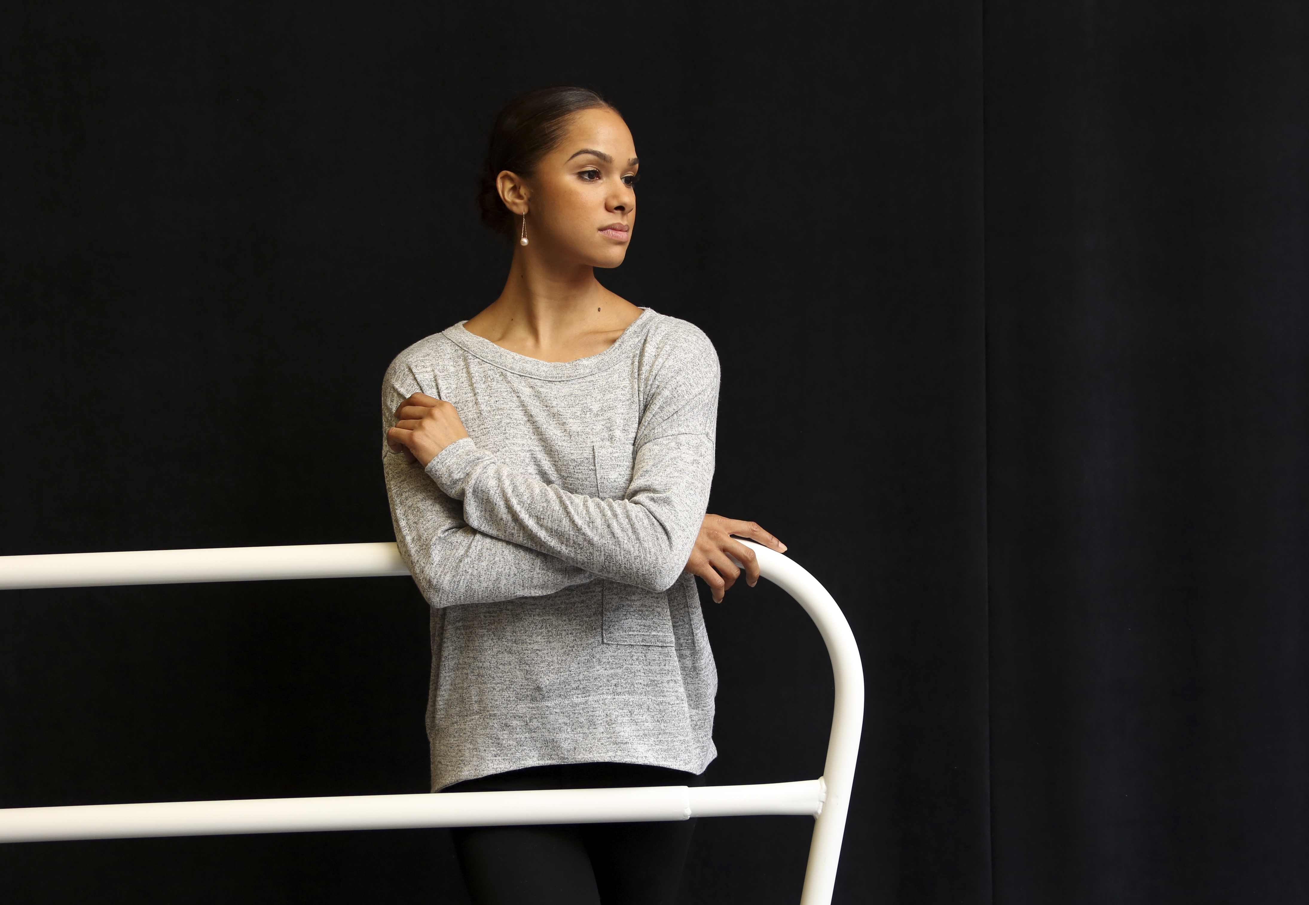 Misty Copeland, shown during a rehearsal in 2014, became the first African-American female principal dancer in the American Ballet Theater's 75-year history.