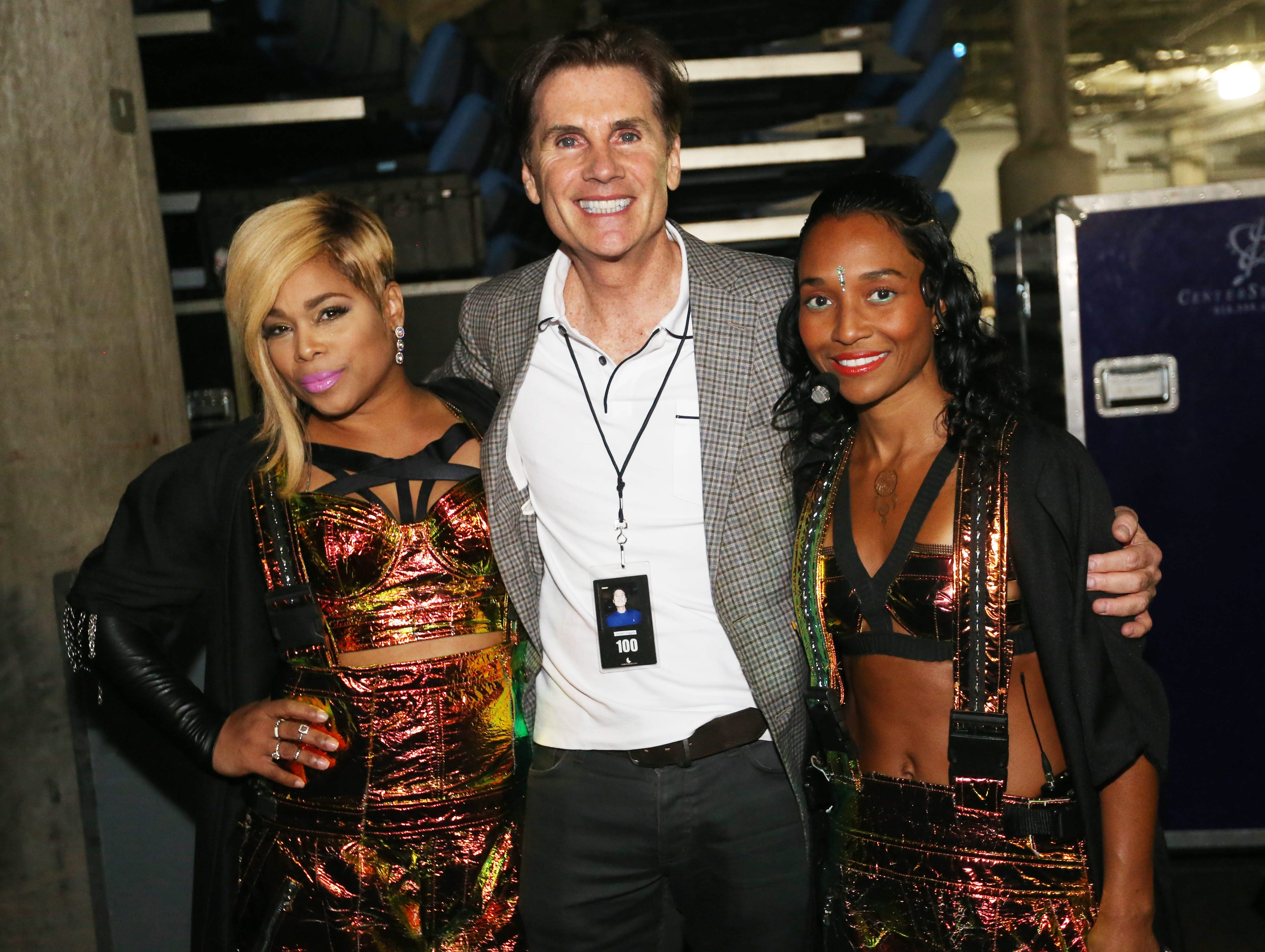 TLC's longtime manager Bill Diggins with T-Boz, left, and Chilli, grew up in Buffalo. Diggins uses a management system for TLC's business that generates weekly financial reports. Through last week, TLC's tour expenses were 20 percent under budget.