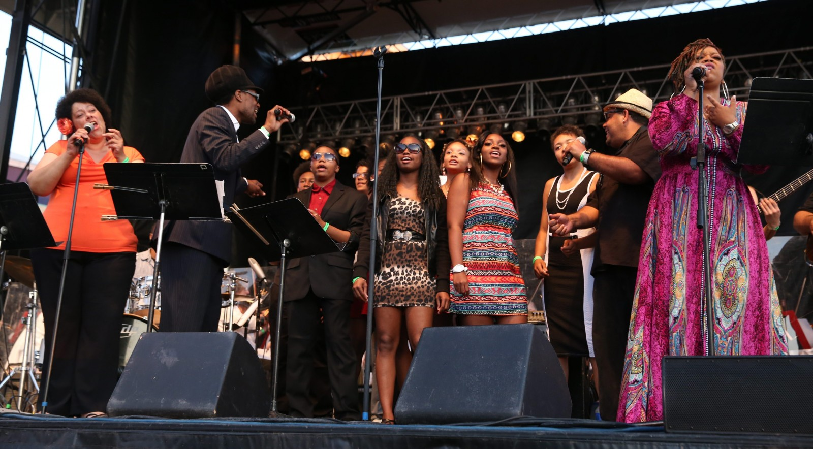Critt's Juke Joint took center stage during Thursday's concert at Canalside, a tribute to Stevie Wonder, with accompaniment by the Buffalo Philharmonic Orchestra and a chorus from Buffalo Center for Arts and Technology. See a photo gallery at BuffaloNews.com.