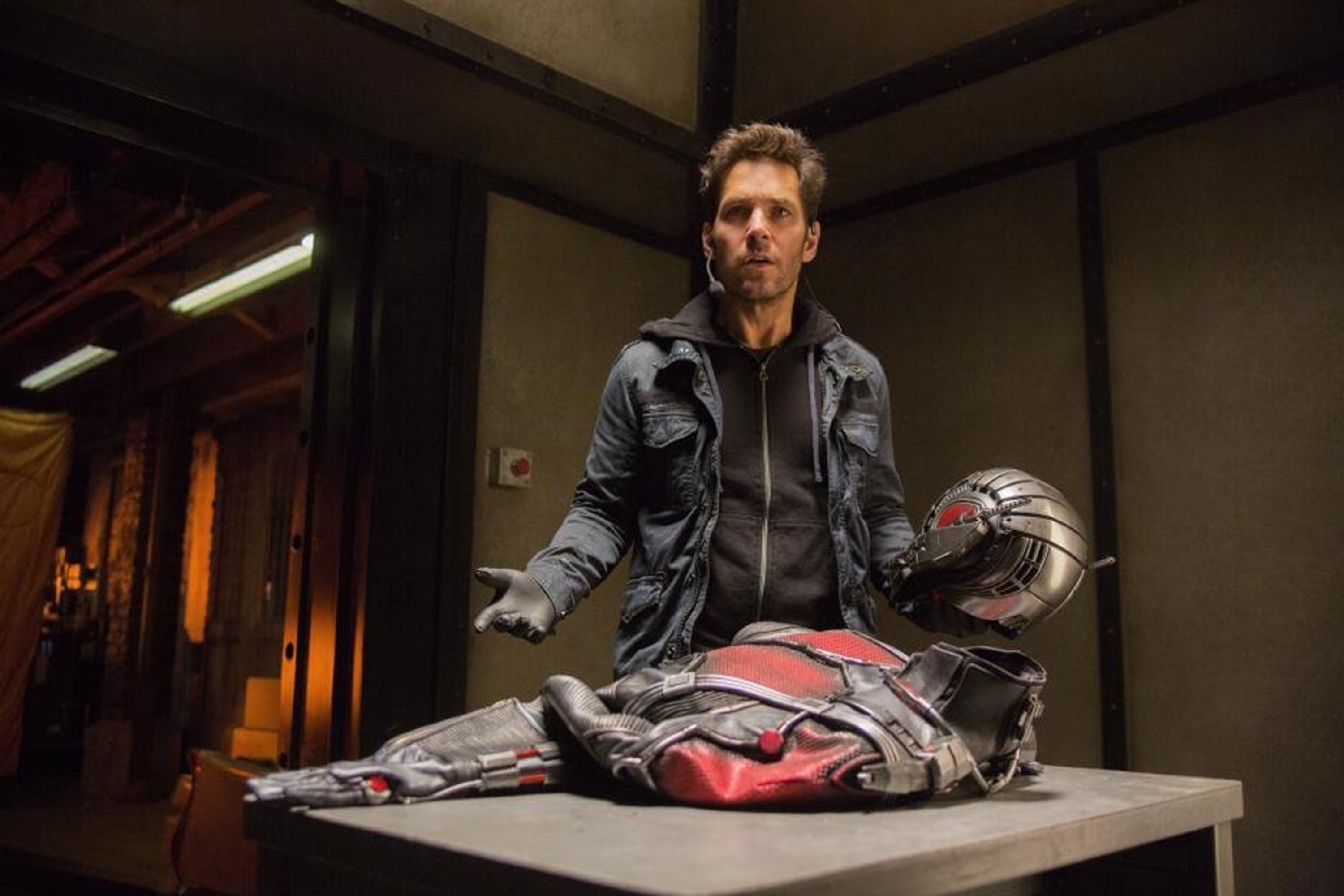 Paul Rudd plays the role of Scott Lang, a.k.a. Ant-Man, who can be shrunk down to microscopic size.