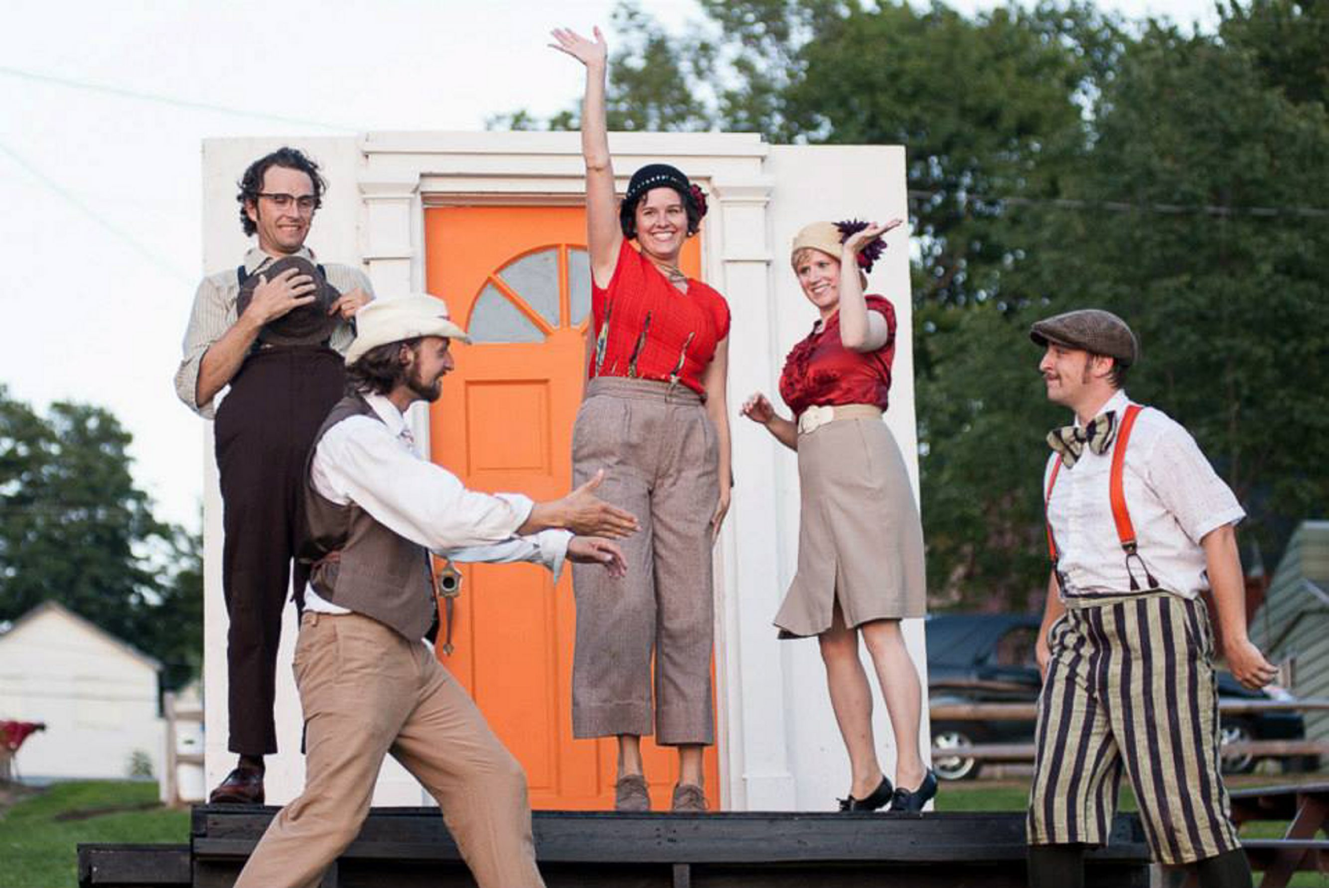 "The cast of the Shake on the Lake summer Shakespeare festival, shown here in a 2013 version of ""The Comedy of Errors,"" performs ""The Tempest"" at 6:30 p.m. Aug. 4 in the Village of Arcade Park."