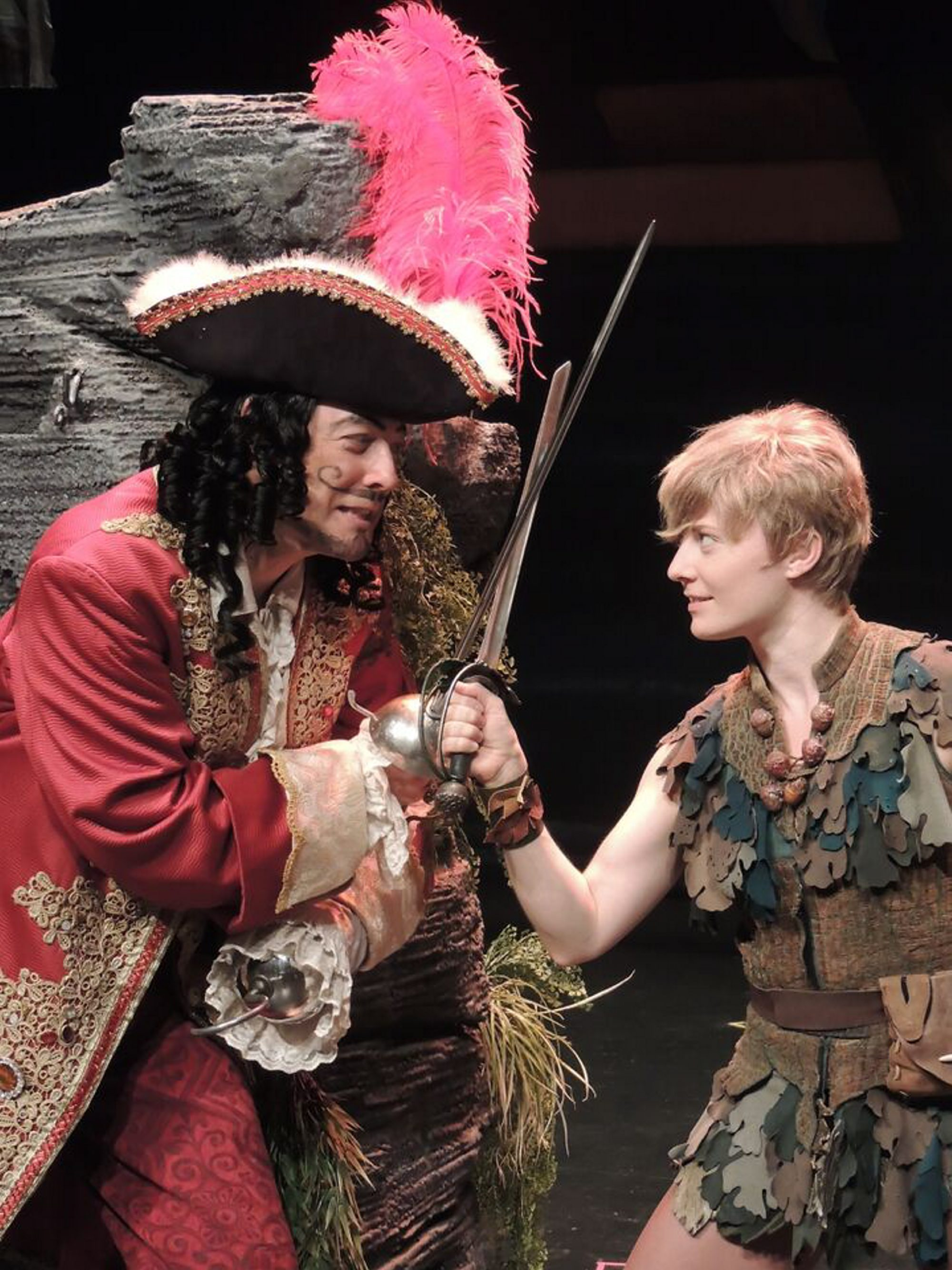 "John Bolton, left, and Hayley Podschun star in ""Peter Pan"" at Artpark."