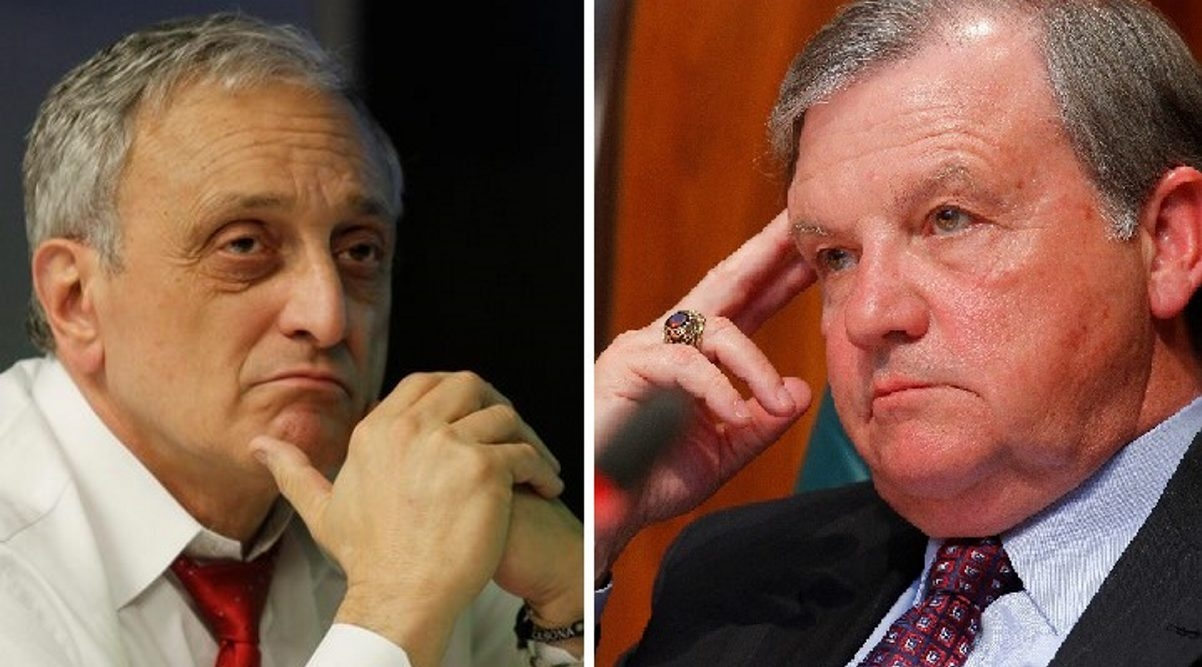 Carl Paladino, left, and James Sampson were formerly allies. (News file photos)