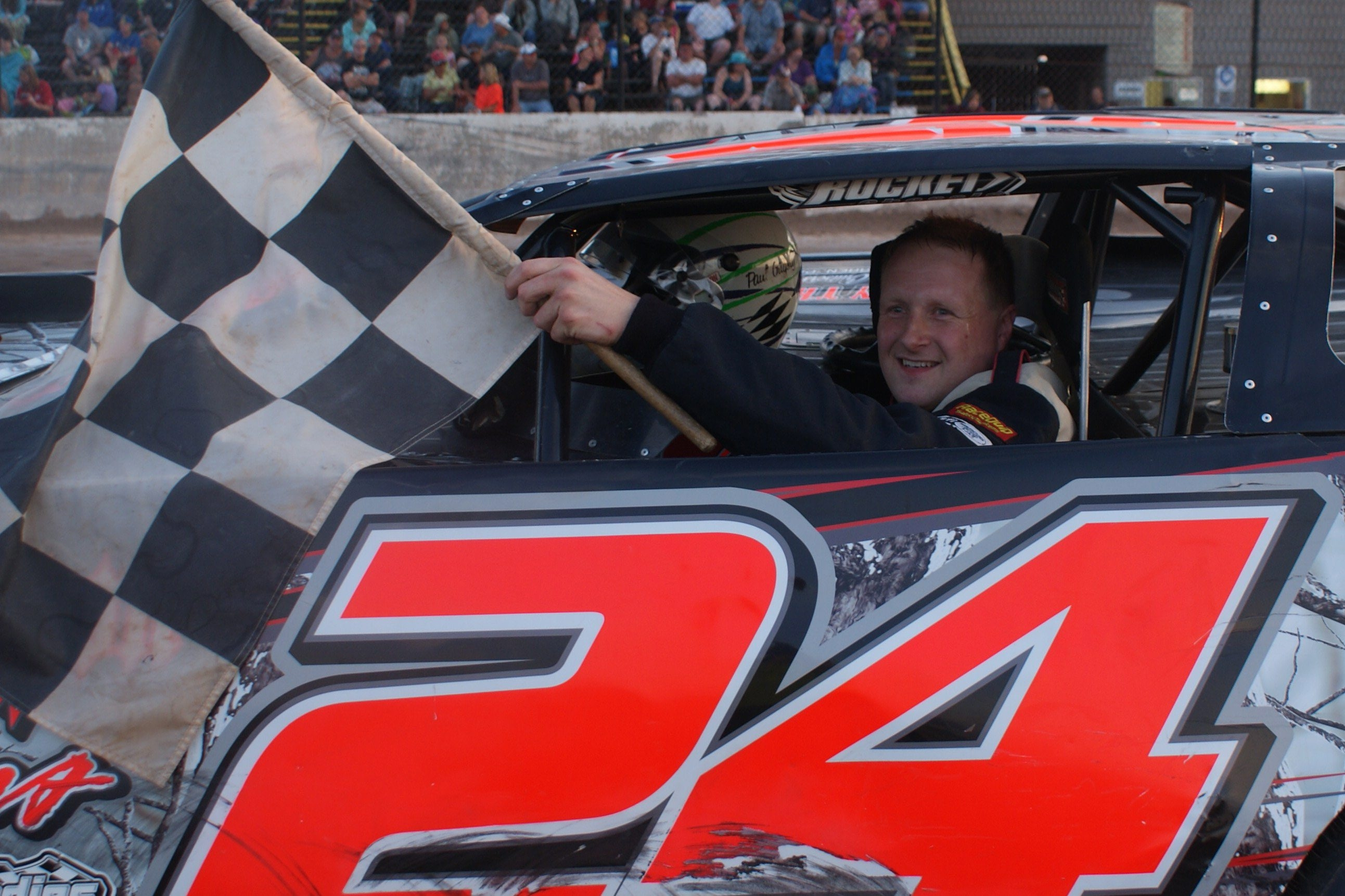 RUSH Late Model driver Paul Grigsby knows the border-crossing routine well because he's also a customs officer.