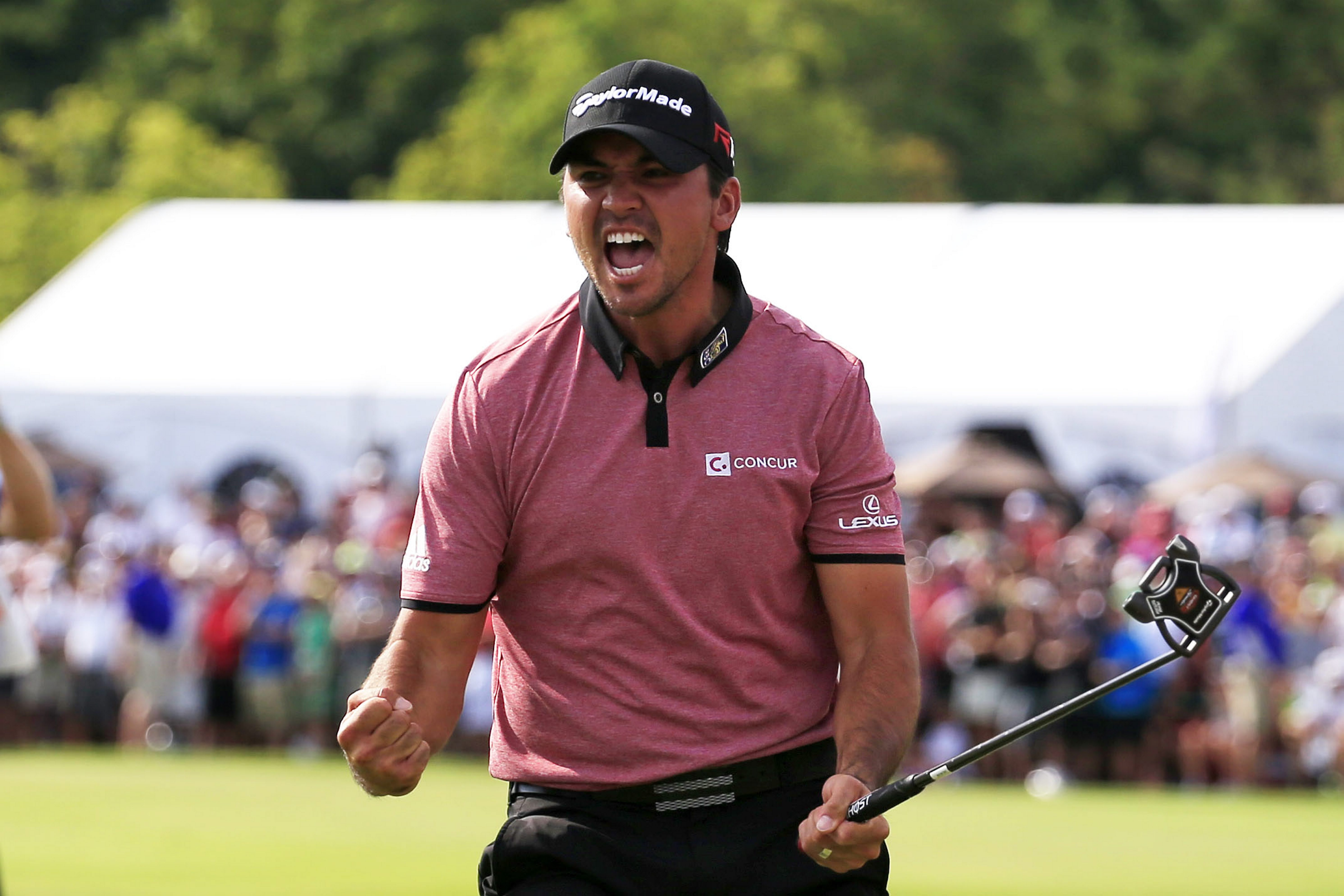 Jason Day's putt for birdie on the 18th green proved decisive in the Canadian Open.