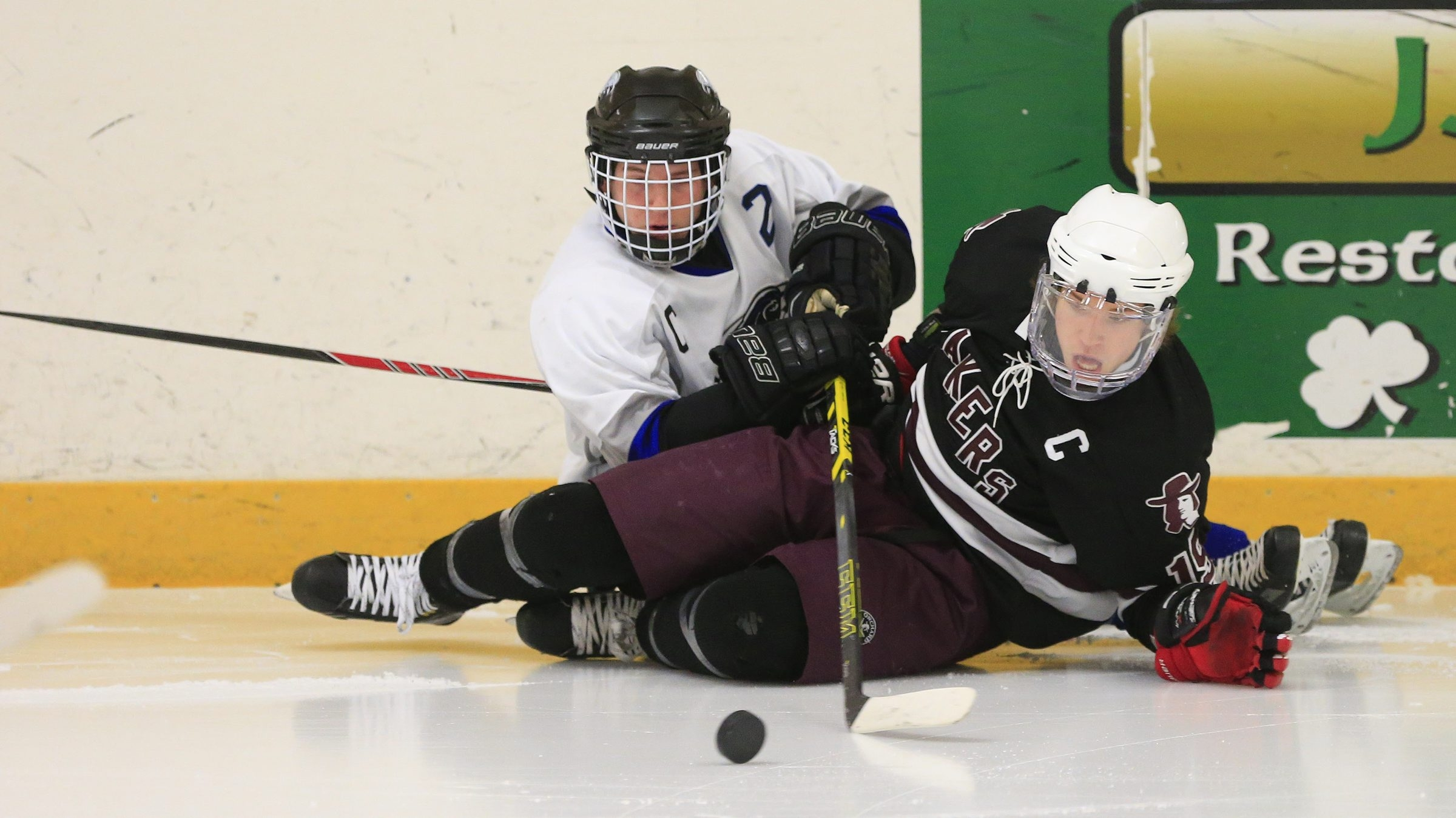 The plan is for games now played at the Hamburg Town Rink, such as this one between Orchard Park and Frontier, would move to the new sports complex. (Harry Scull Jr./Buffalo News file photo)
