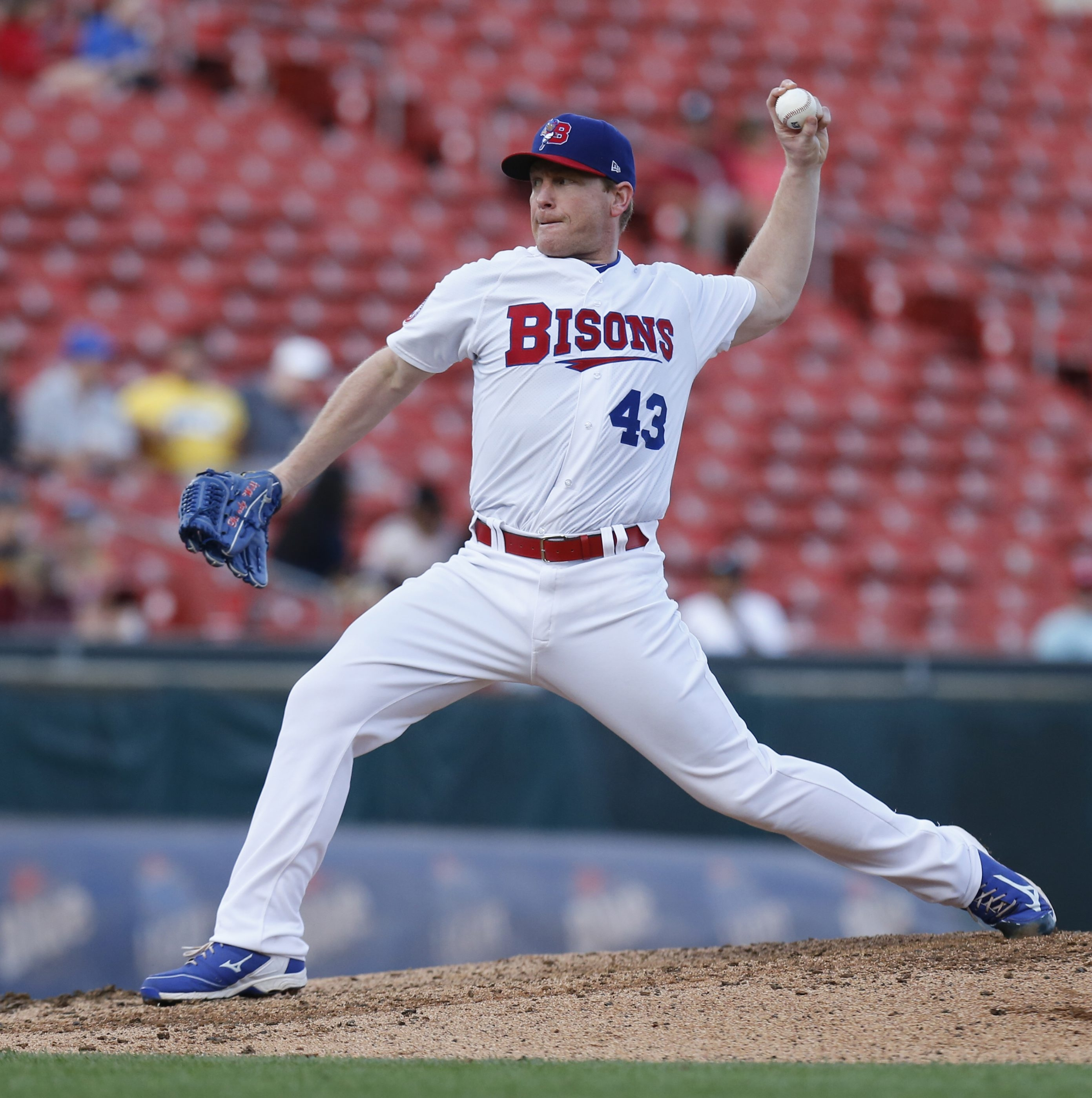 Bisons starter Randy Wolf was in full command against Syracuse on Monday night.
