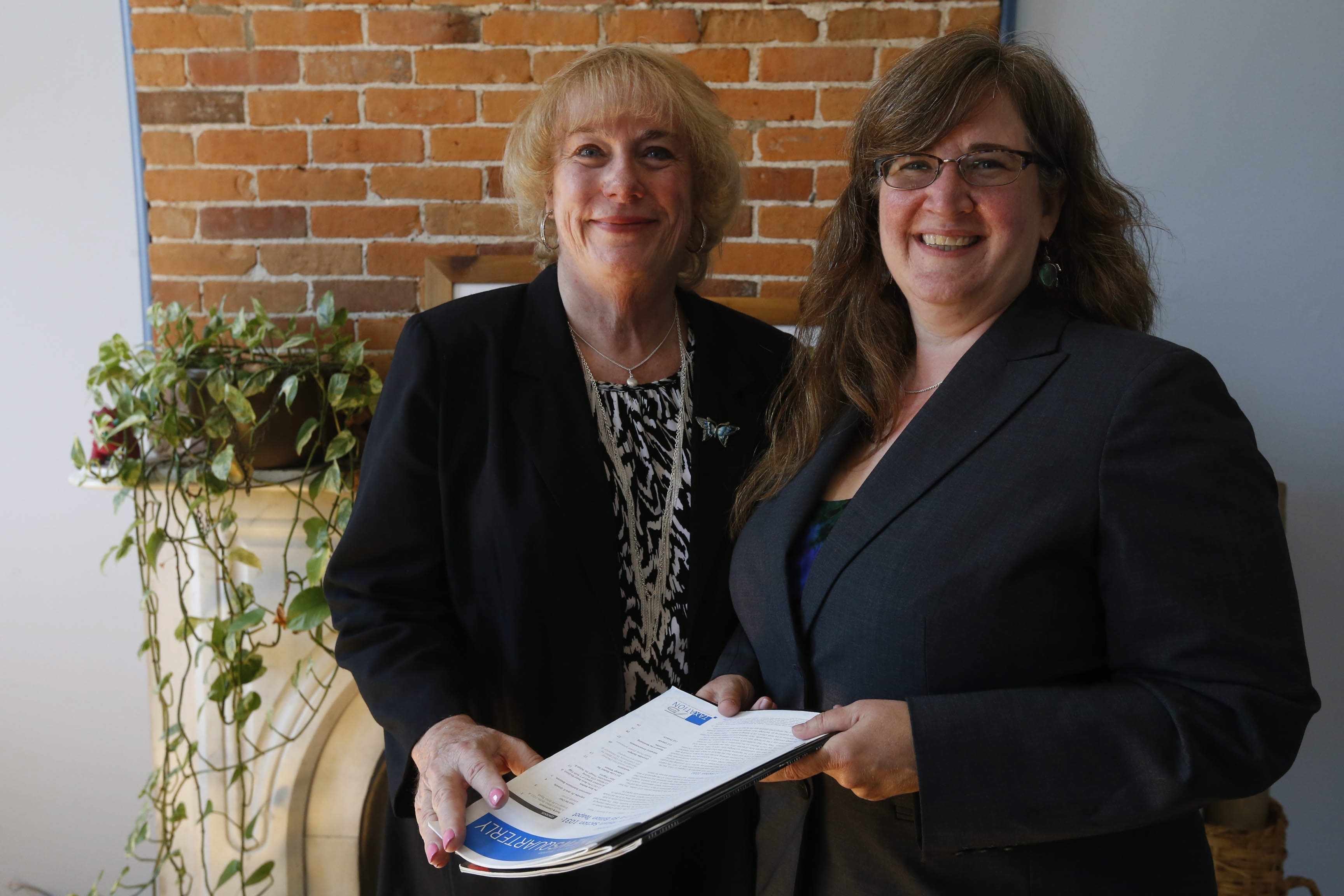 Robert Kirkham/Buffalo NewsRoberta J. O'Toole, left, spent 24 years as town attorney in Wheatfield. After retiring from the town last month, she formed a new practice in Buffalo's Allentown neighborhood with her law partner, Heidi I. Jones.