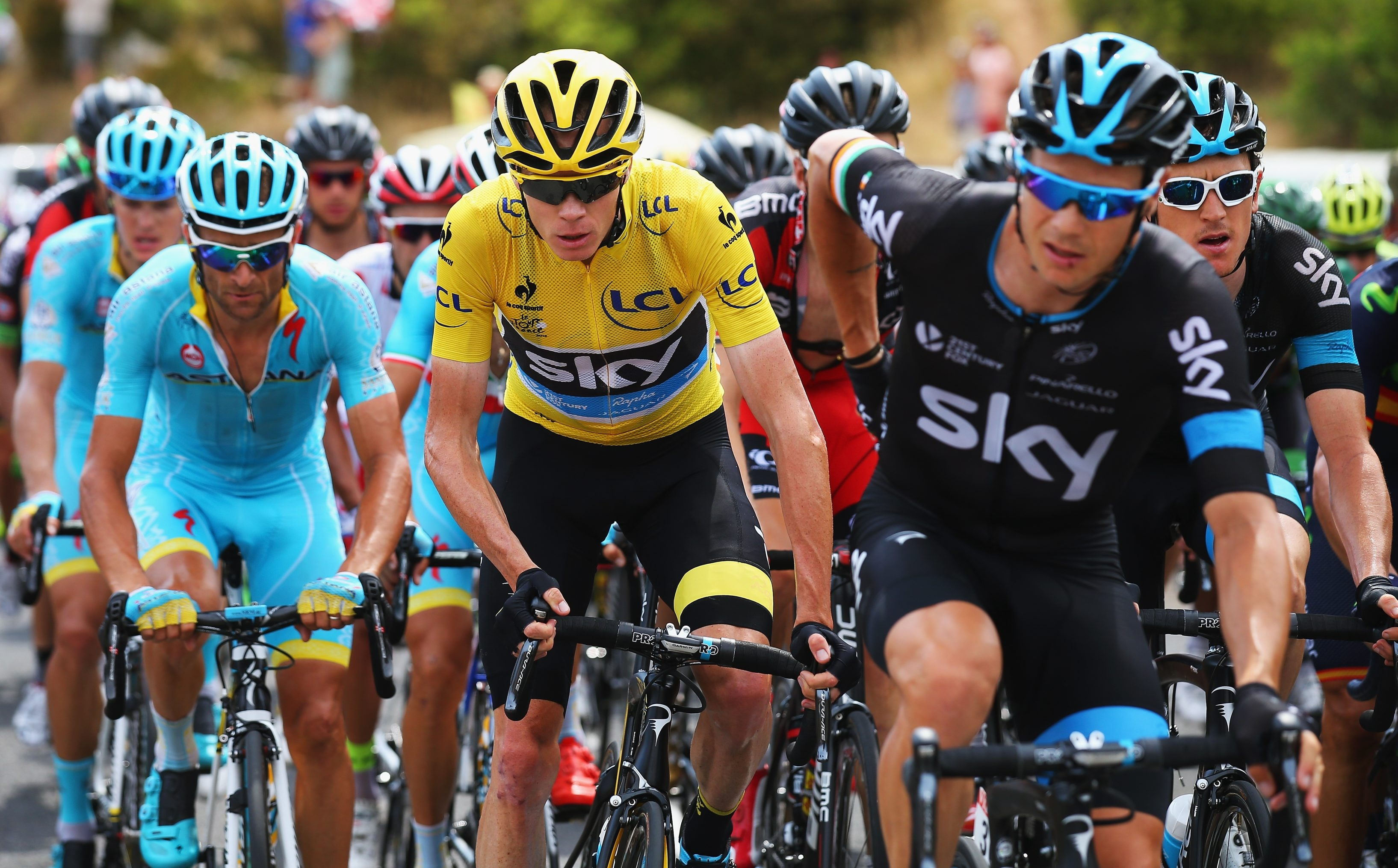 Chris Froome of Great Britain takes his lead into the final week of the Tour de France on NBCSN.