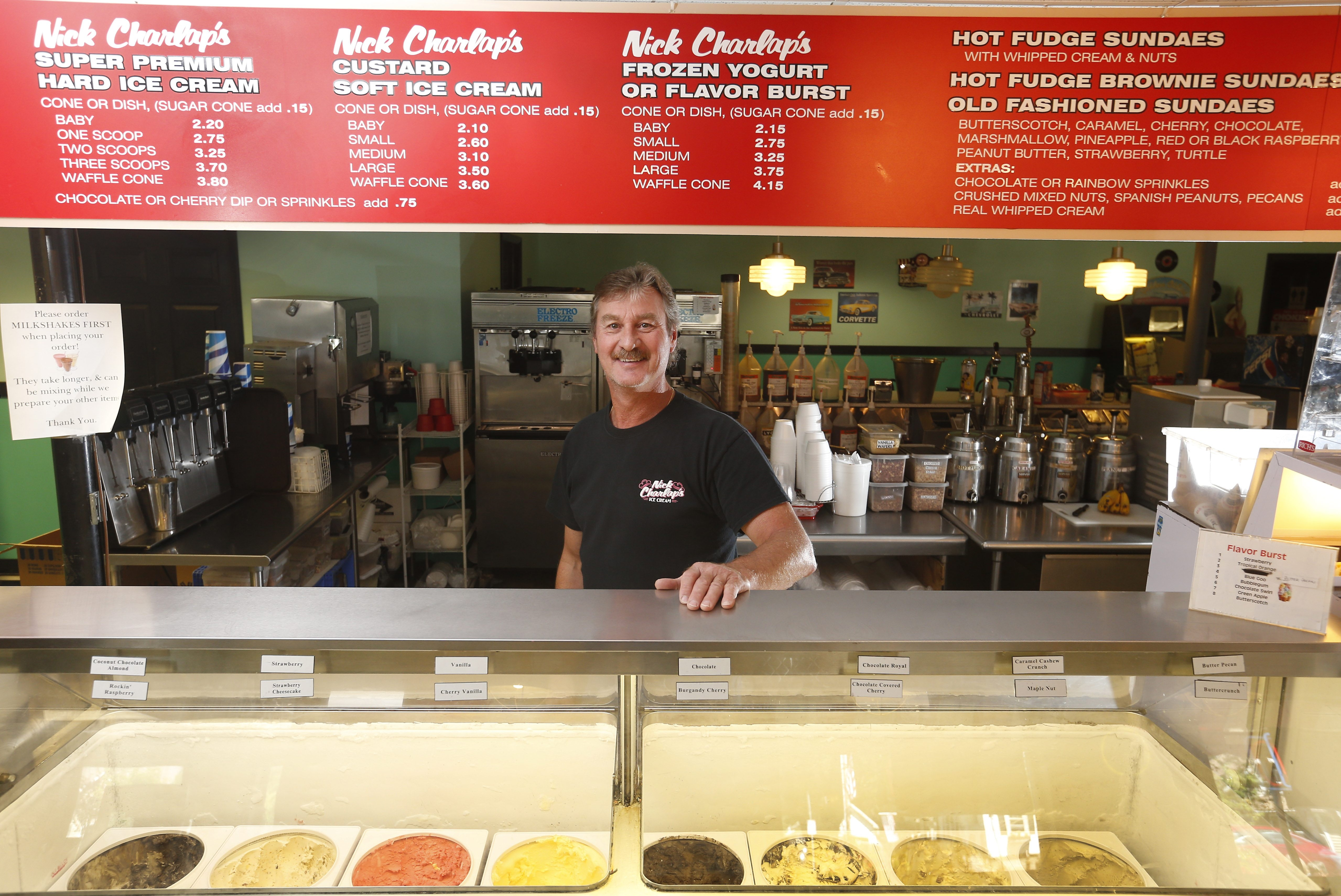 Nick Charlap swooped in after the company that bought his father's business sold its machinery, purchasing it for himself. That machinery now churns out 43 different flavors of ice cream in North Boston, and has several retail locations throughout WNY. His father continues to help by labeling the tubs of ice cream.