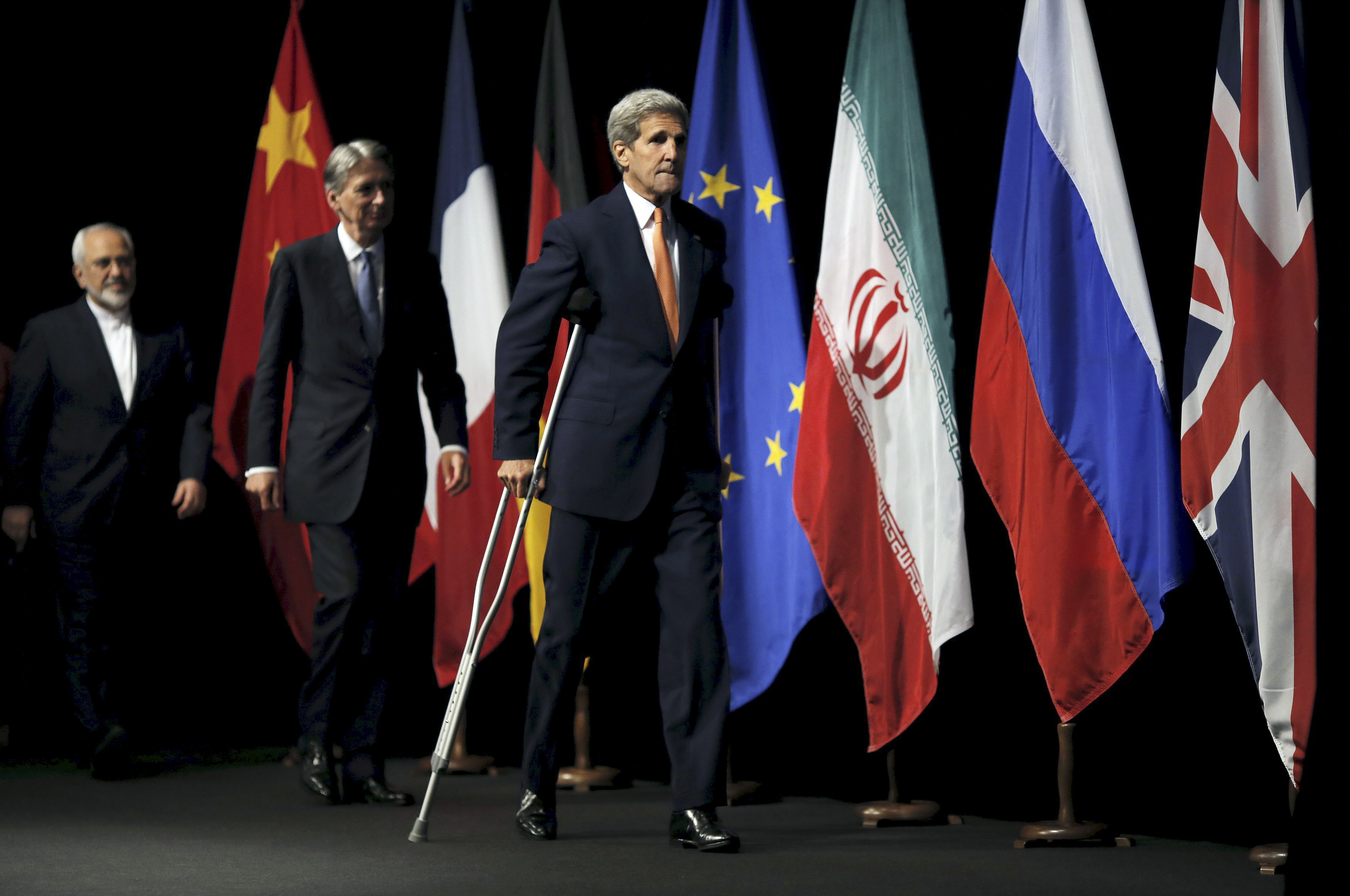 If the agreement negotiated by Secretary of State John Kerry and others does not peacefully block Iran's ability to build nuclear weapons, military options remain available. (New York Times)