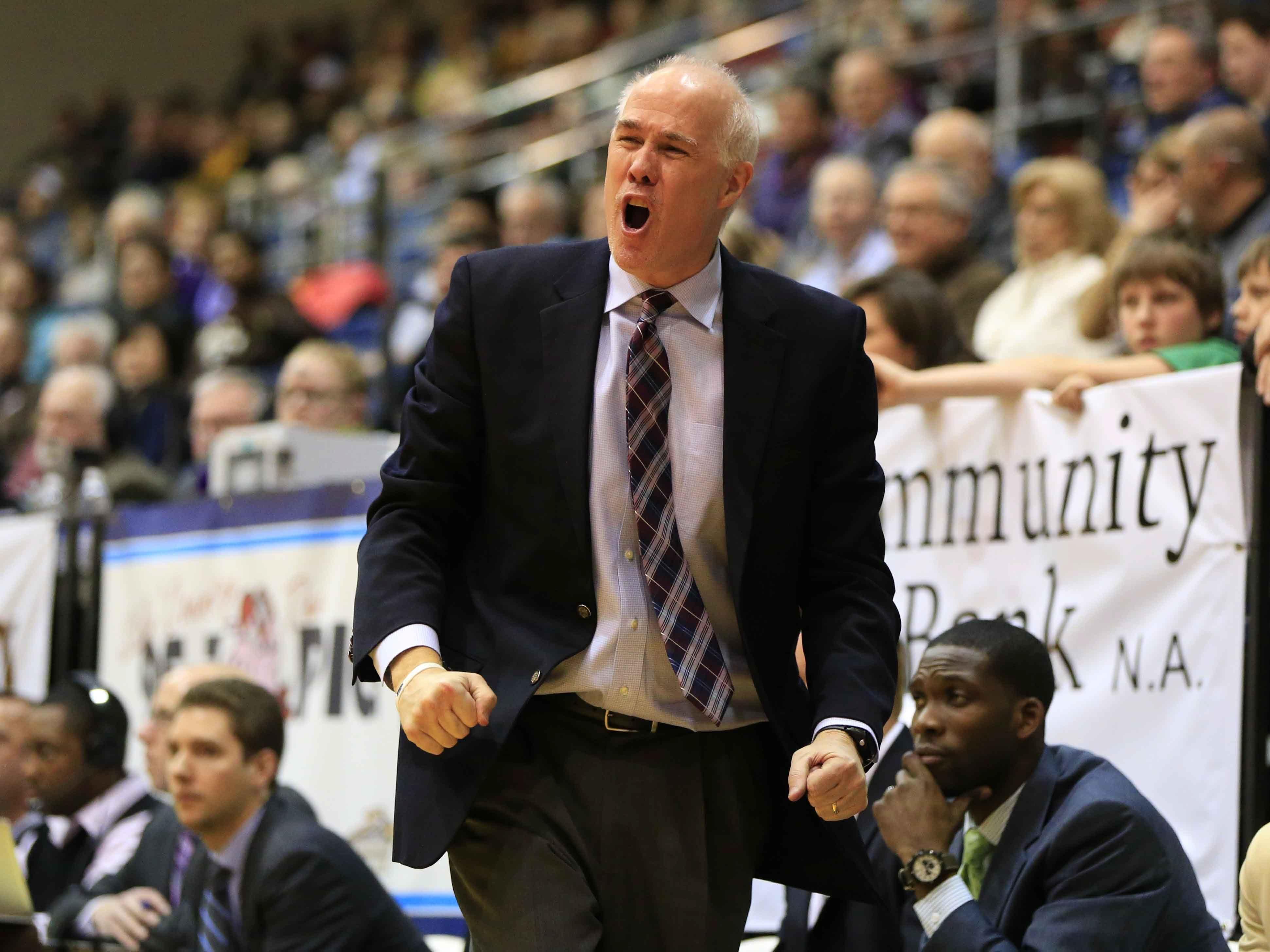 Coach Mark Schmidt's St. Bonaventure men's teams have had winning records five of the last seven years.