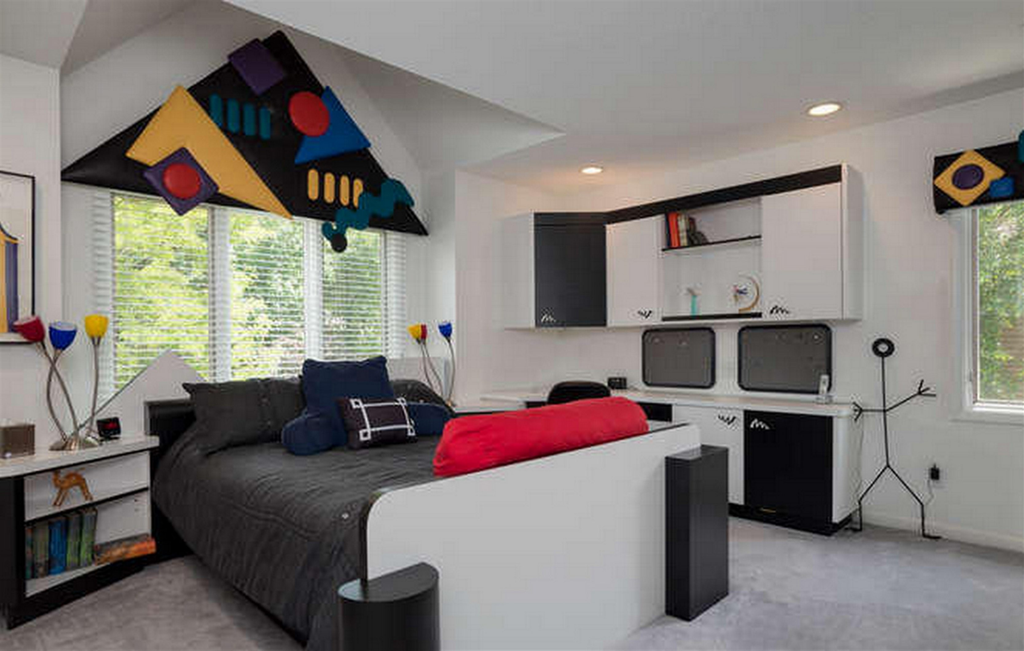1980s flashback home is a hot real estate listing in Williamsville on tile for a home, ideas for a home, art for a home,