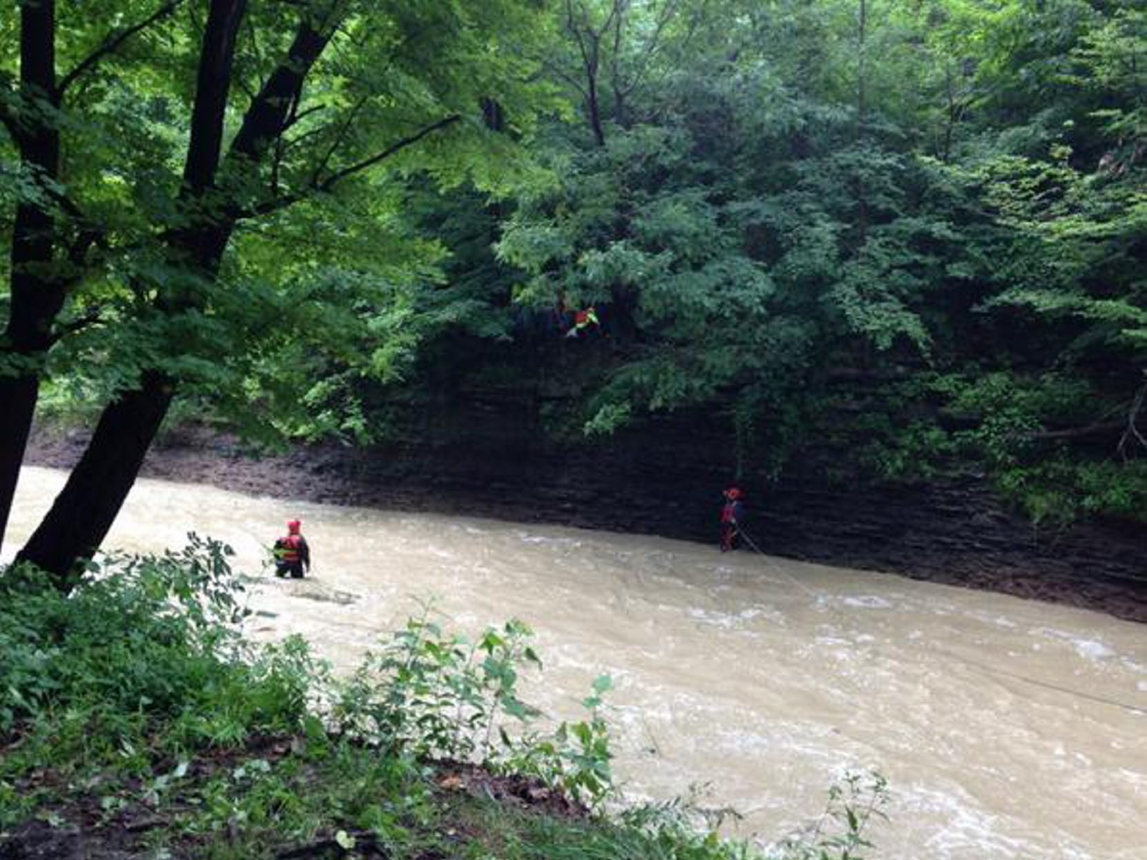 Rescuers pulled 26-year-old Kari Brown from Slippery Rock Creek in Brocton on Tuesday. Brown was taking video when she fell.