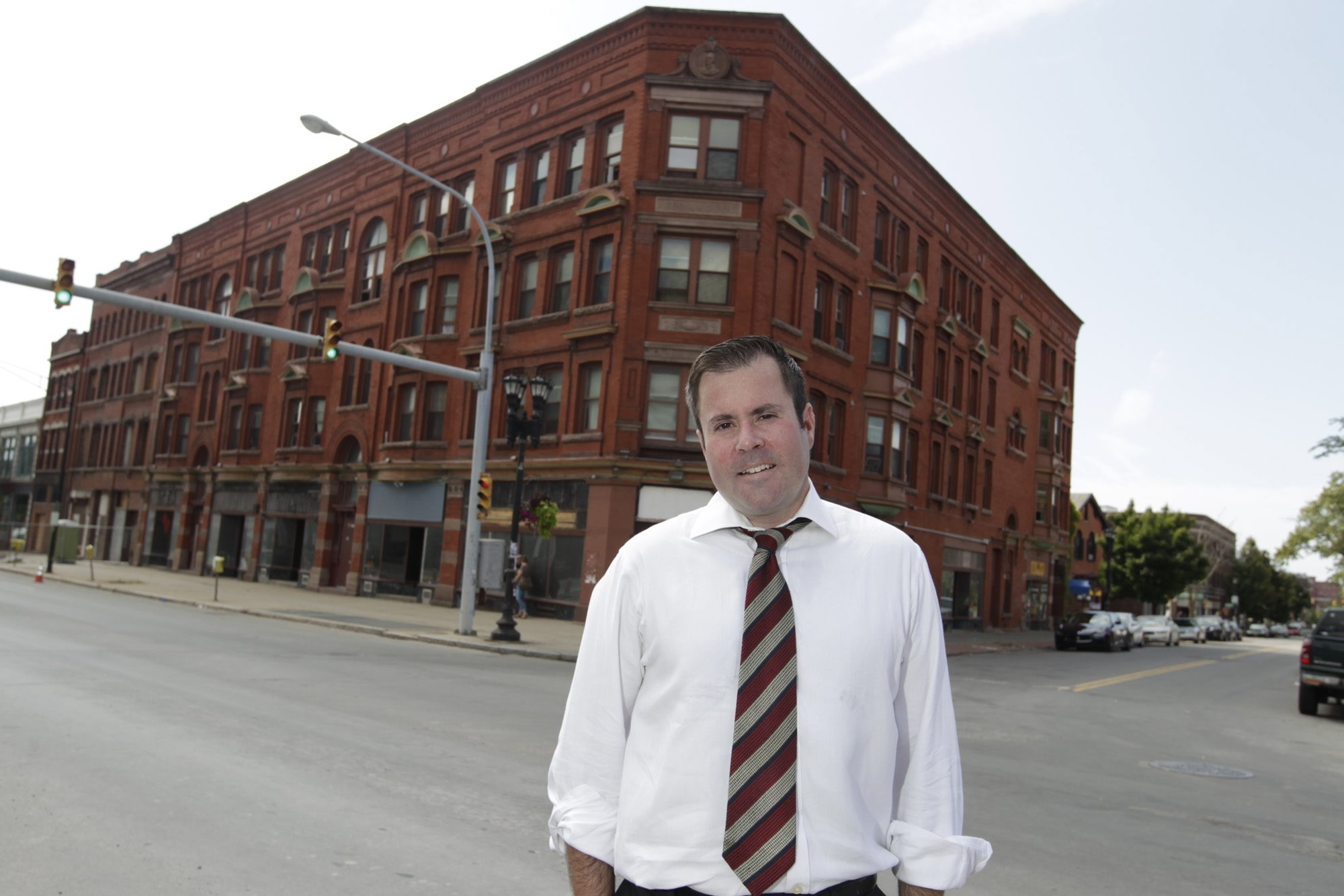 Aaron Siegel, along with Brett Fitzpatrick, is redeveloping the Red Jacket Building at Main and Allen streets in Buffalo.