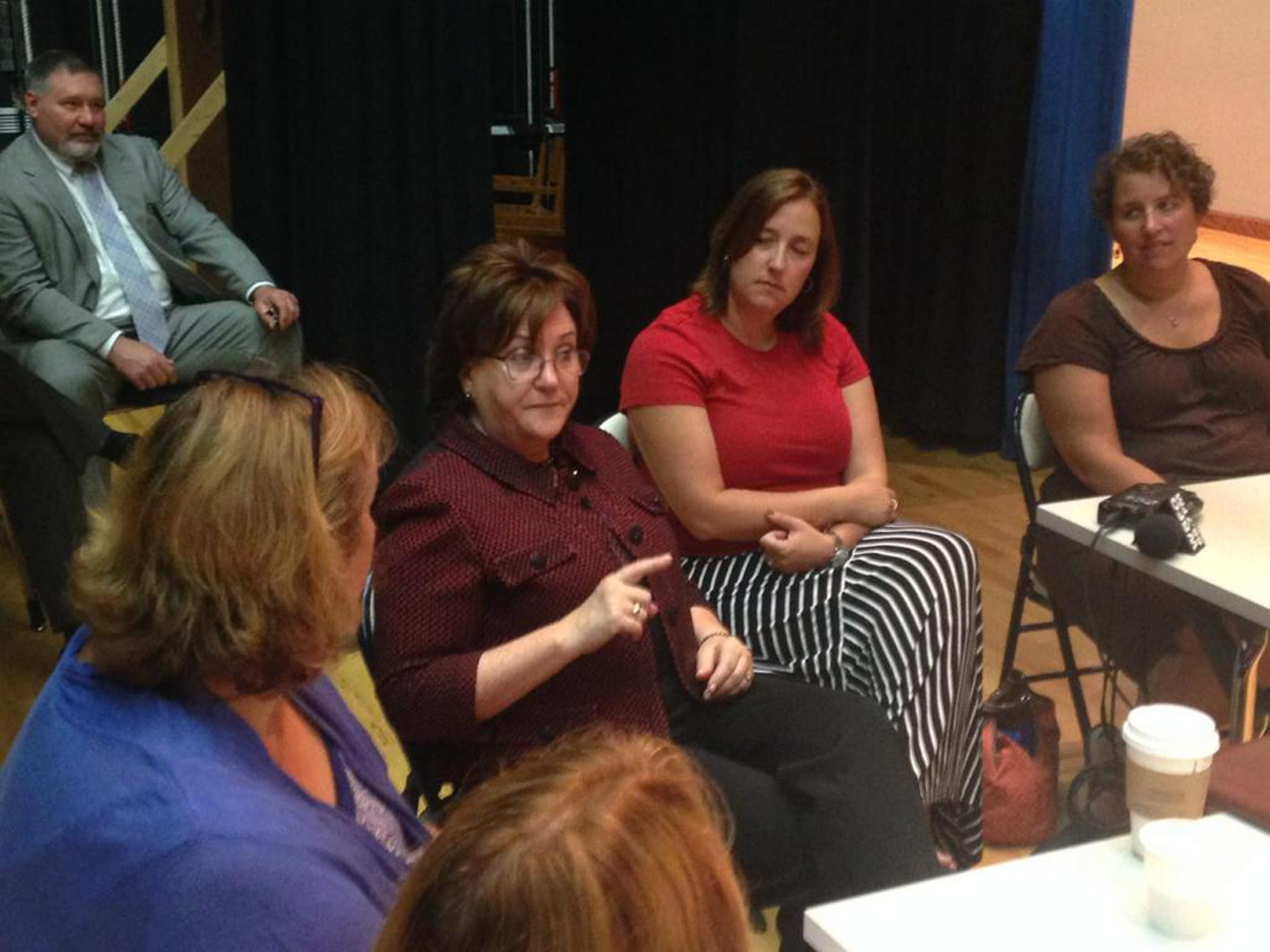 MaryEllen Elia meets with Sweet Home School District parents and educators on Thursday, July 9, 2015. Photo by John Hickey/Buffalo News