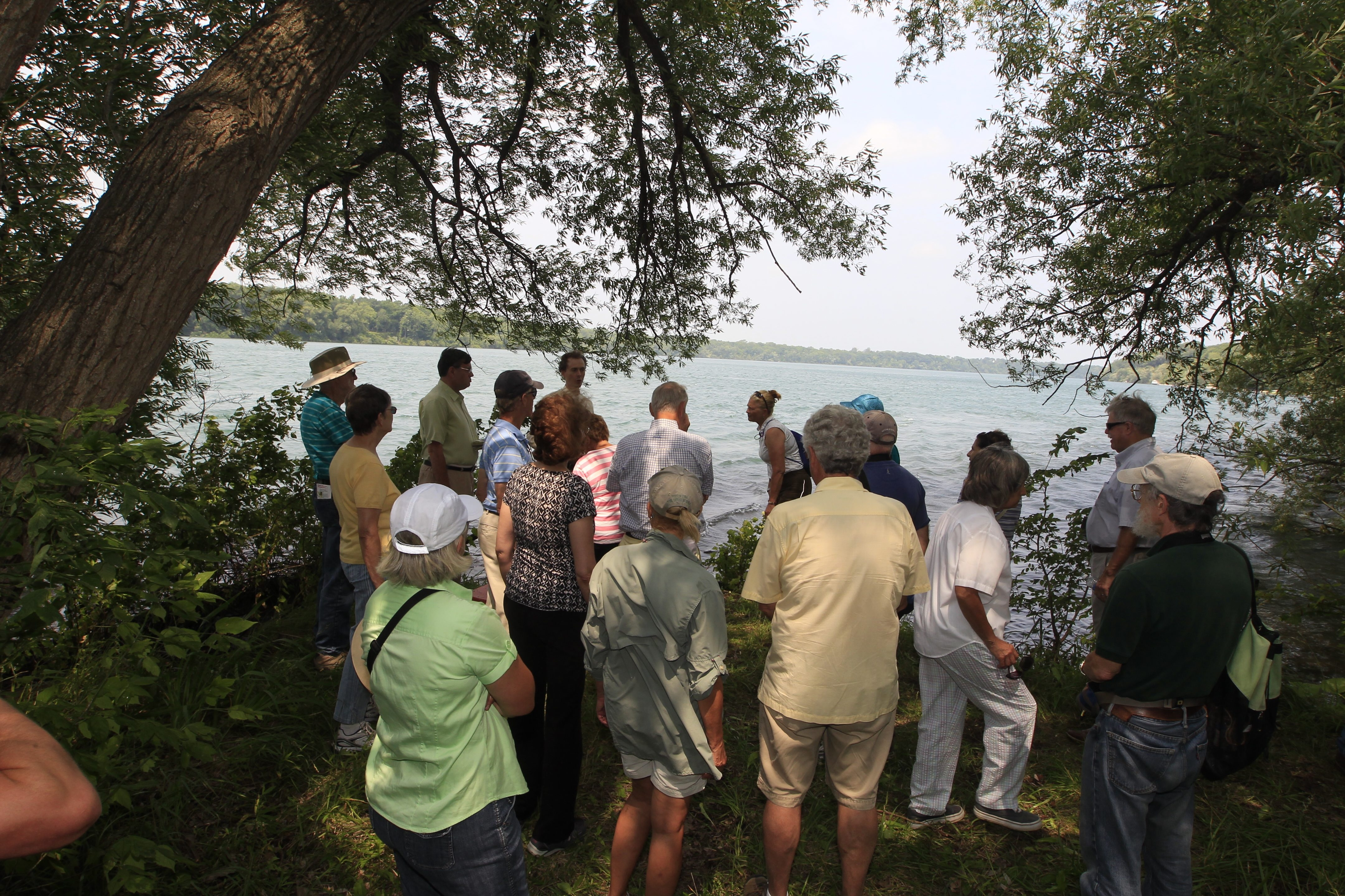 Visitors check out the kayak launch on the Niagara River at Stella Niagara Preserve as the Western New York Land Conservancy opens the Lewiston site to the public after acquiring it in May from the Sisters of St. Francis, the order that had owned the land for 108 years. Below, Paula Sciuk, of Grand Island, left, and Nancy Cimbal, of Williamsville, chat while enjoying the hiking paths.
