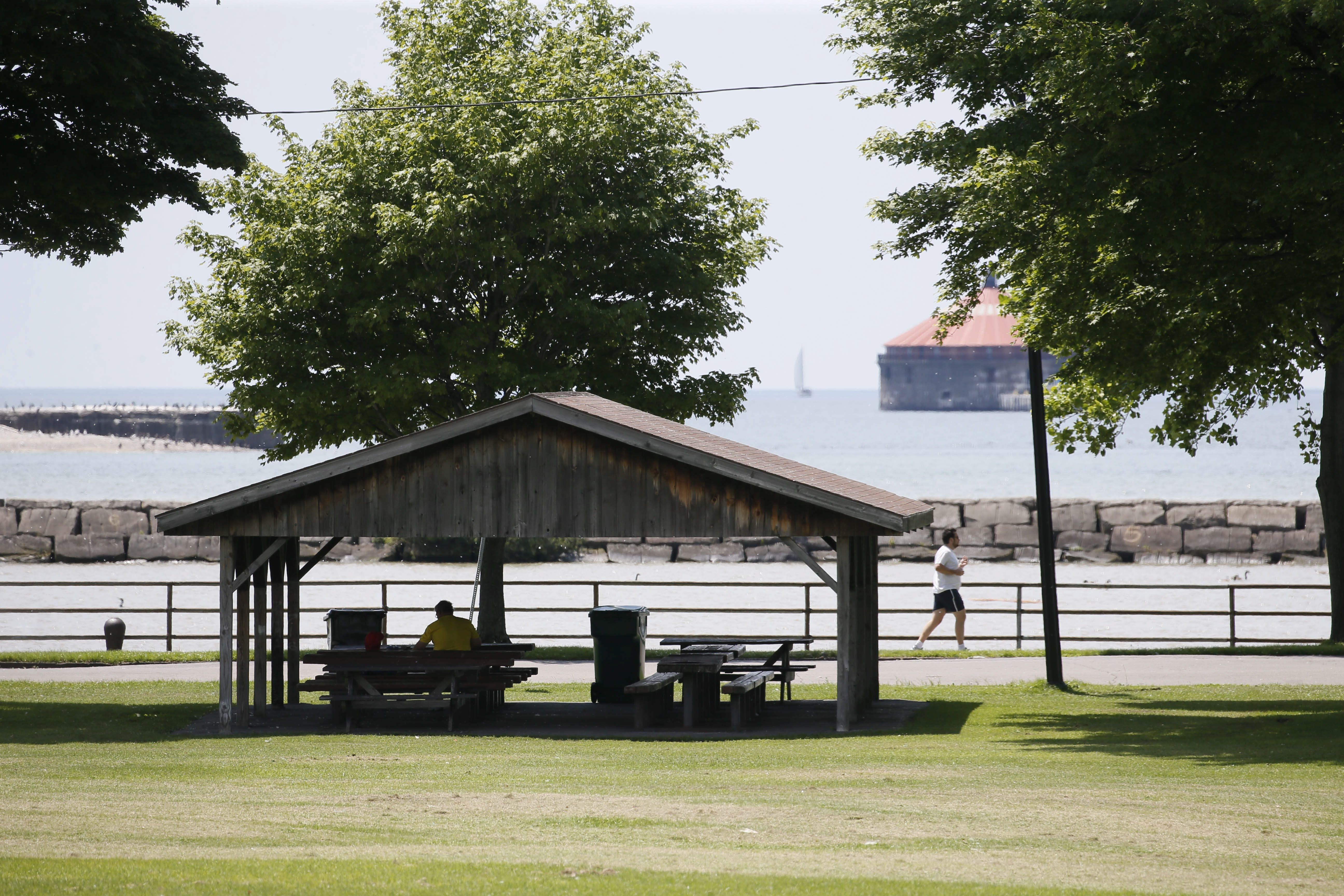 The location is unbeatable, but LaSalle Park on Buffalo's waterfront has long been in need of a makeover.  (Derek Gee/Buffalo News)