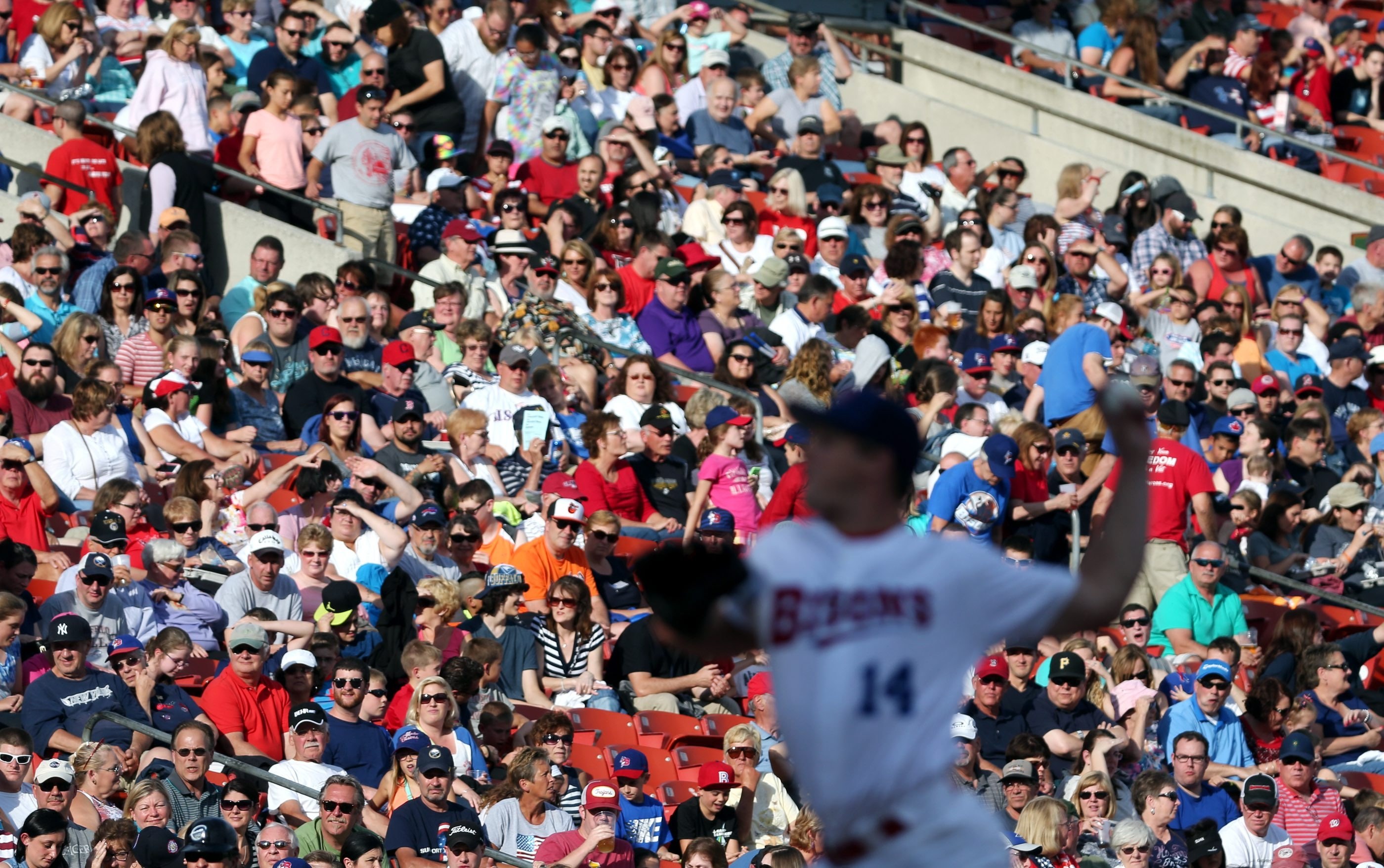 The Bisons enjoyed playing in front of a nearly full house at Coca-Cola Field during the annual Independence Eve game.